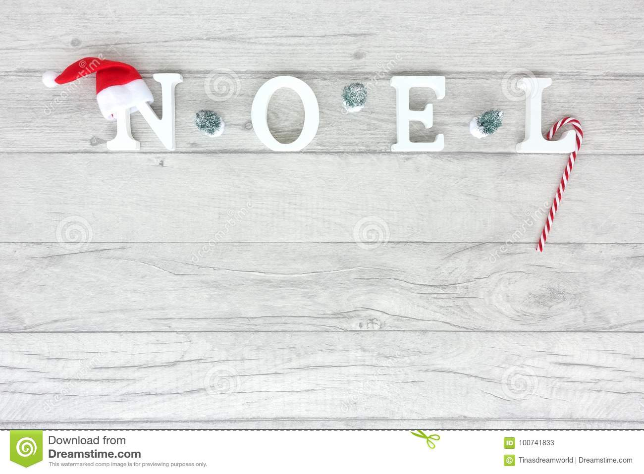 Capital Letters Forming The Word Noel As Christmas Background Stock ...