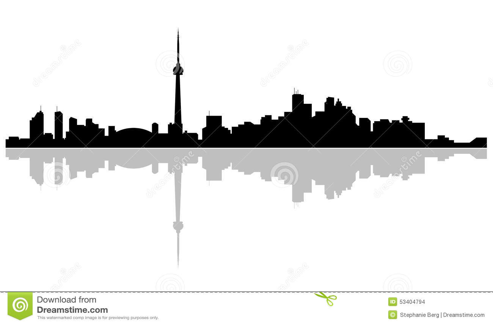 capital of ontario skyline toronto stock illustration