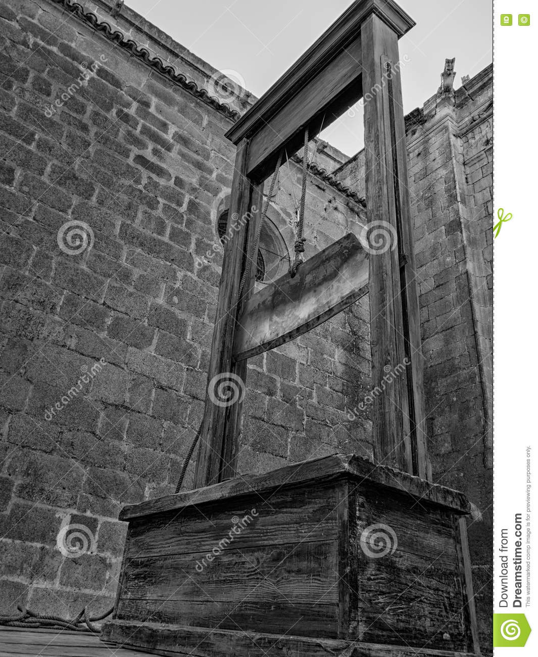 Capital Punishment: The Guillotine Stock Photo - Image of