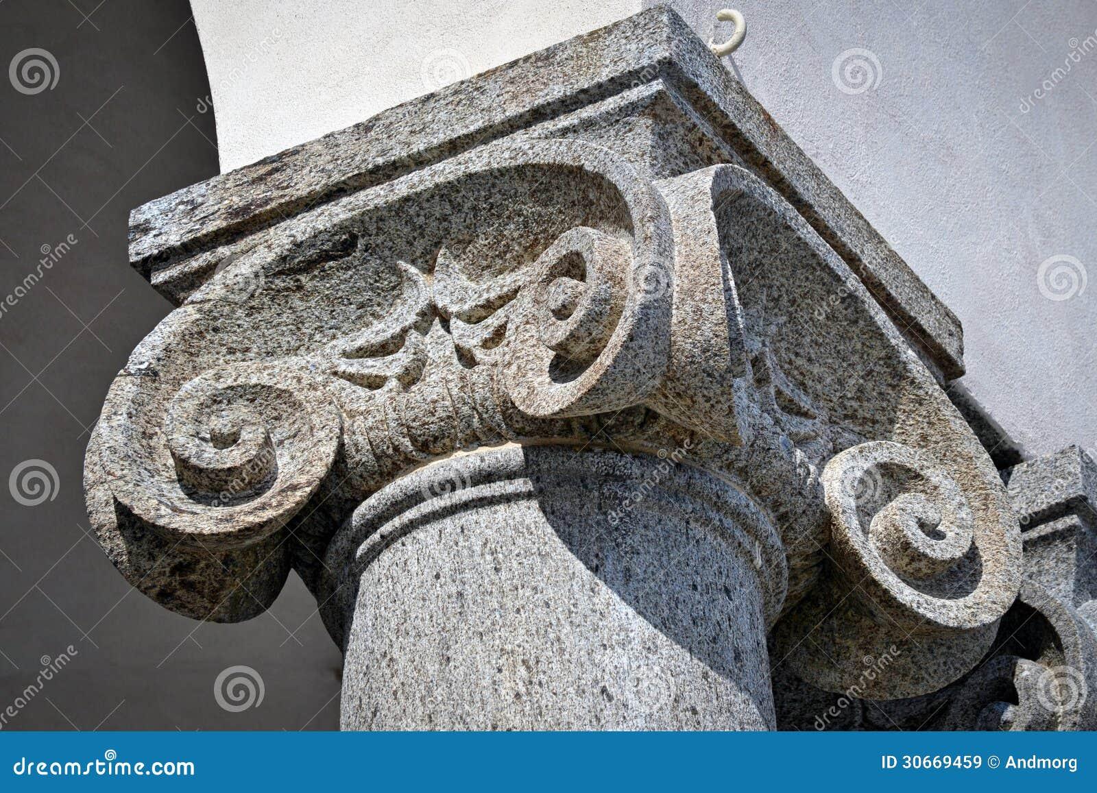 Capitale di colonna ionico