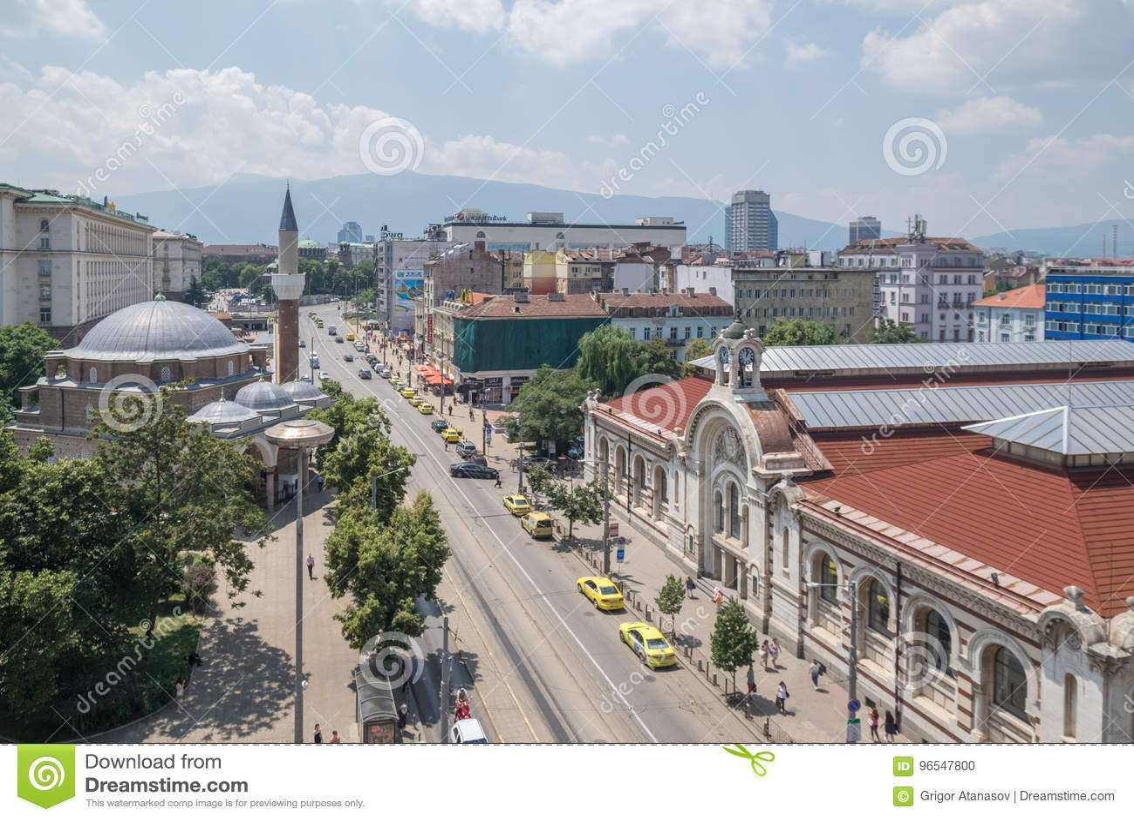 Capitale di Sofia, Bulgaria del centro