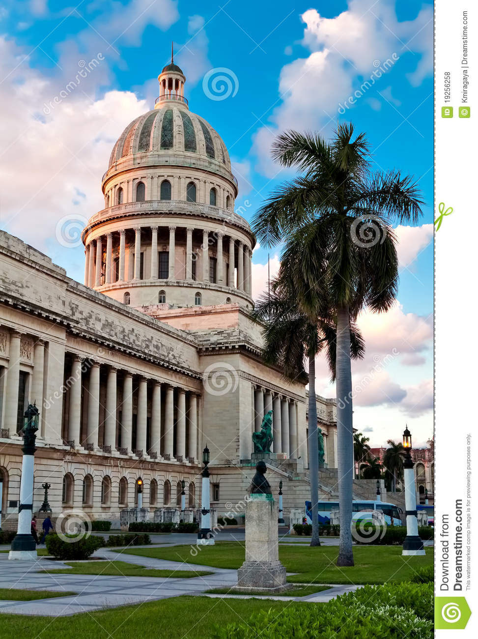 The Capitol Building And Gardens In Havana Royalty Free