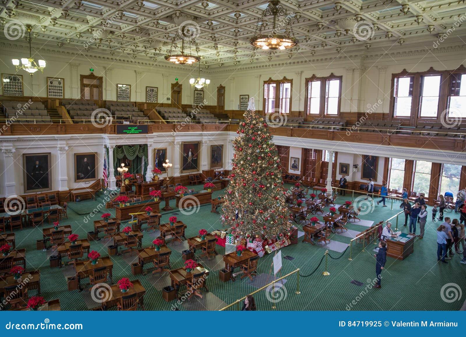 Capitol de Texas State de chambre de sénat