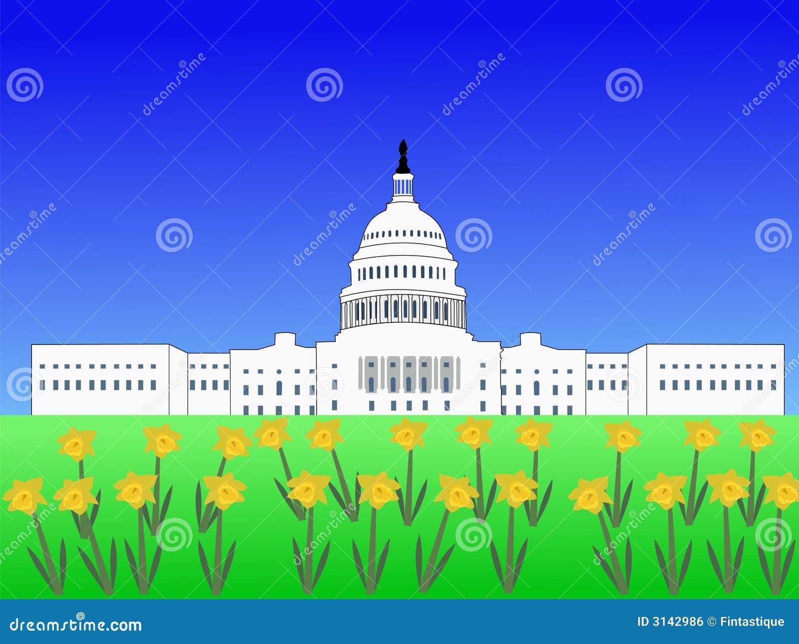 Capitol degli Stati Uniti in primavera