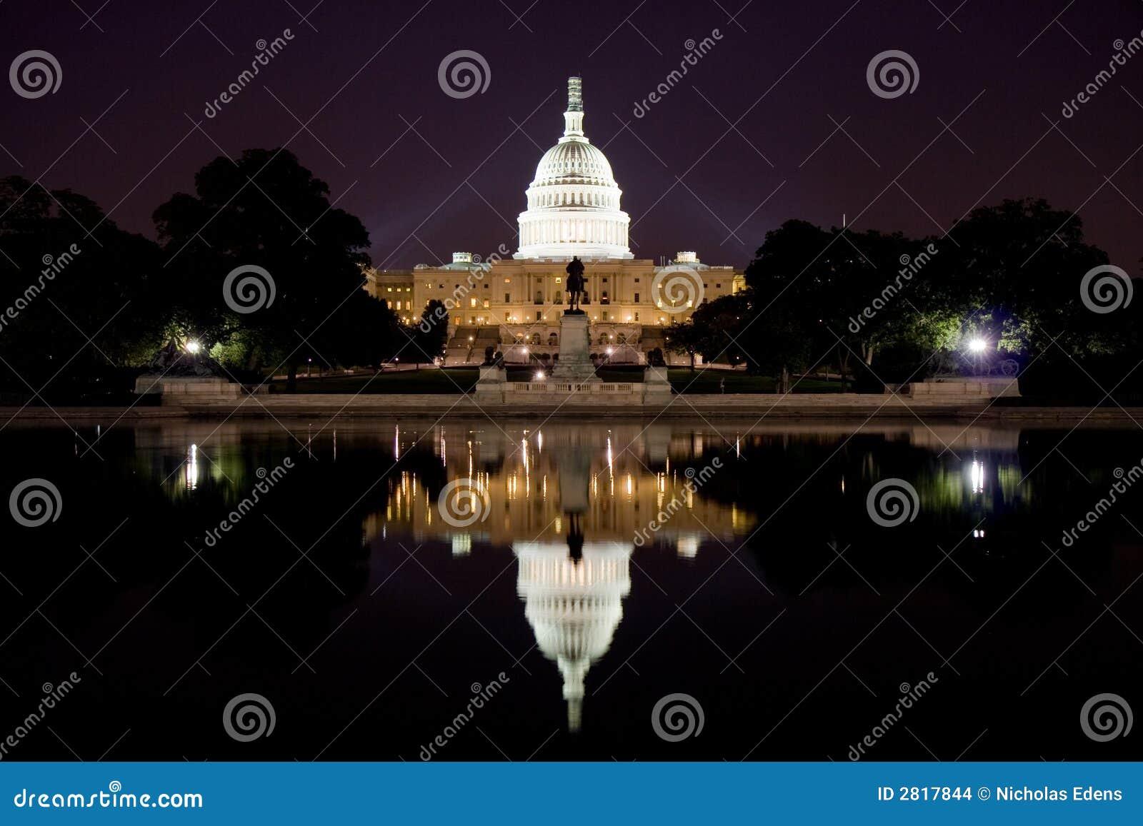 Capitol des USA la nuit