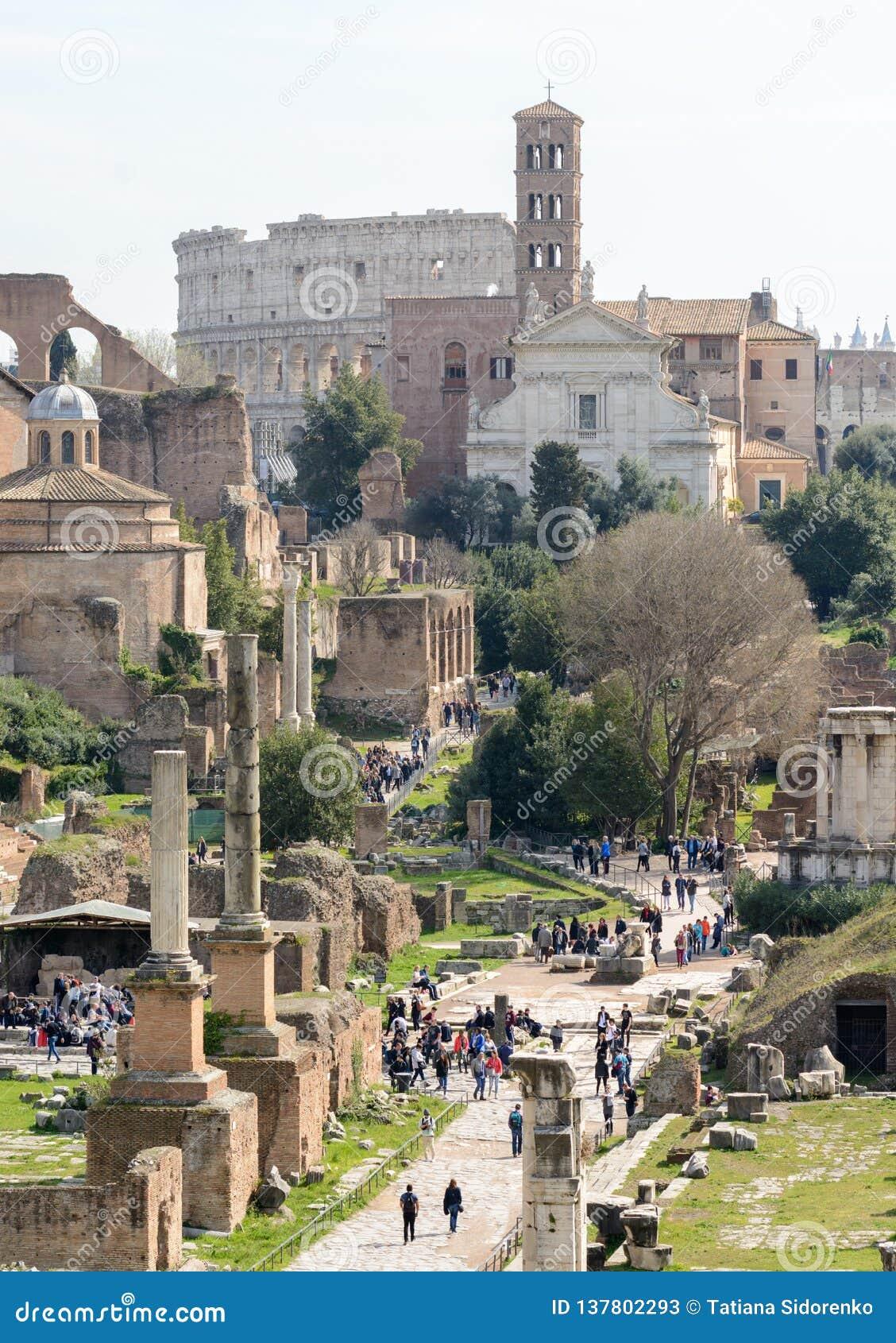 Capitol Hill roma Italia 12 marzo 2017 Vista del foro romano
