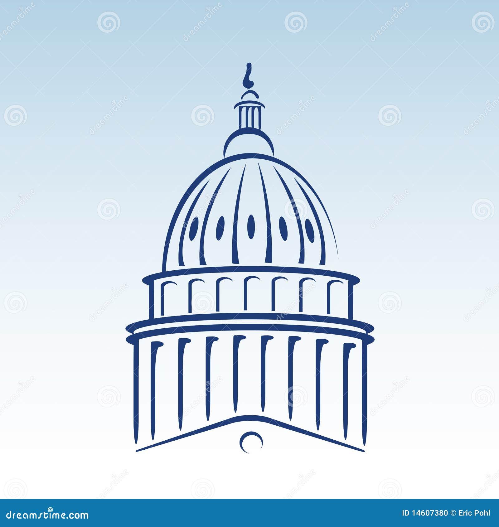Capitol kopuły ilustracja my wektorowi