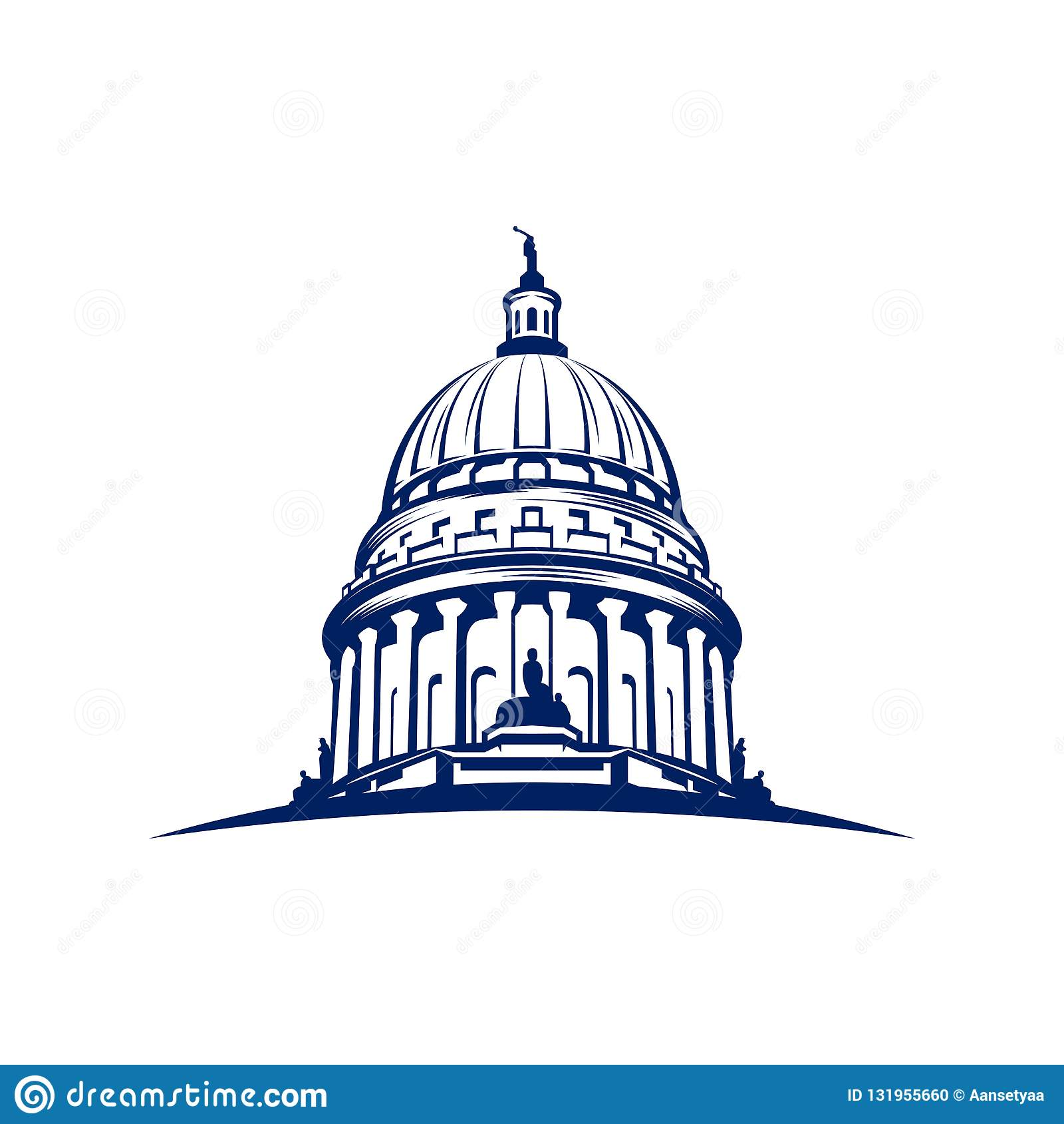 Capitol kopuły logo projekta inspiracja - Kapitałowa logo projekta inspiracja