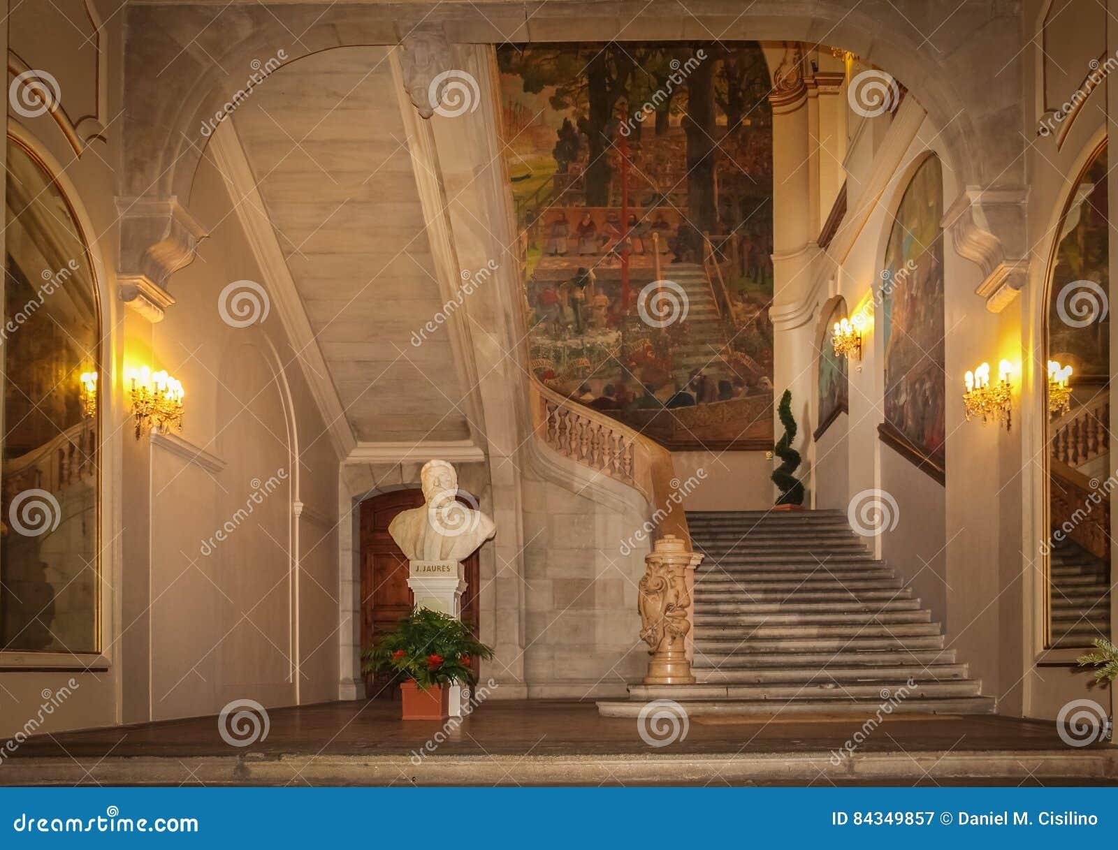 Capitole wnętrze Główna sala toulouse Francja
