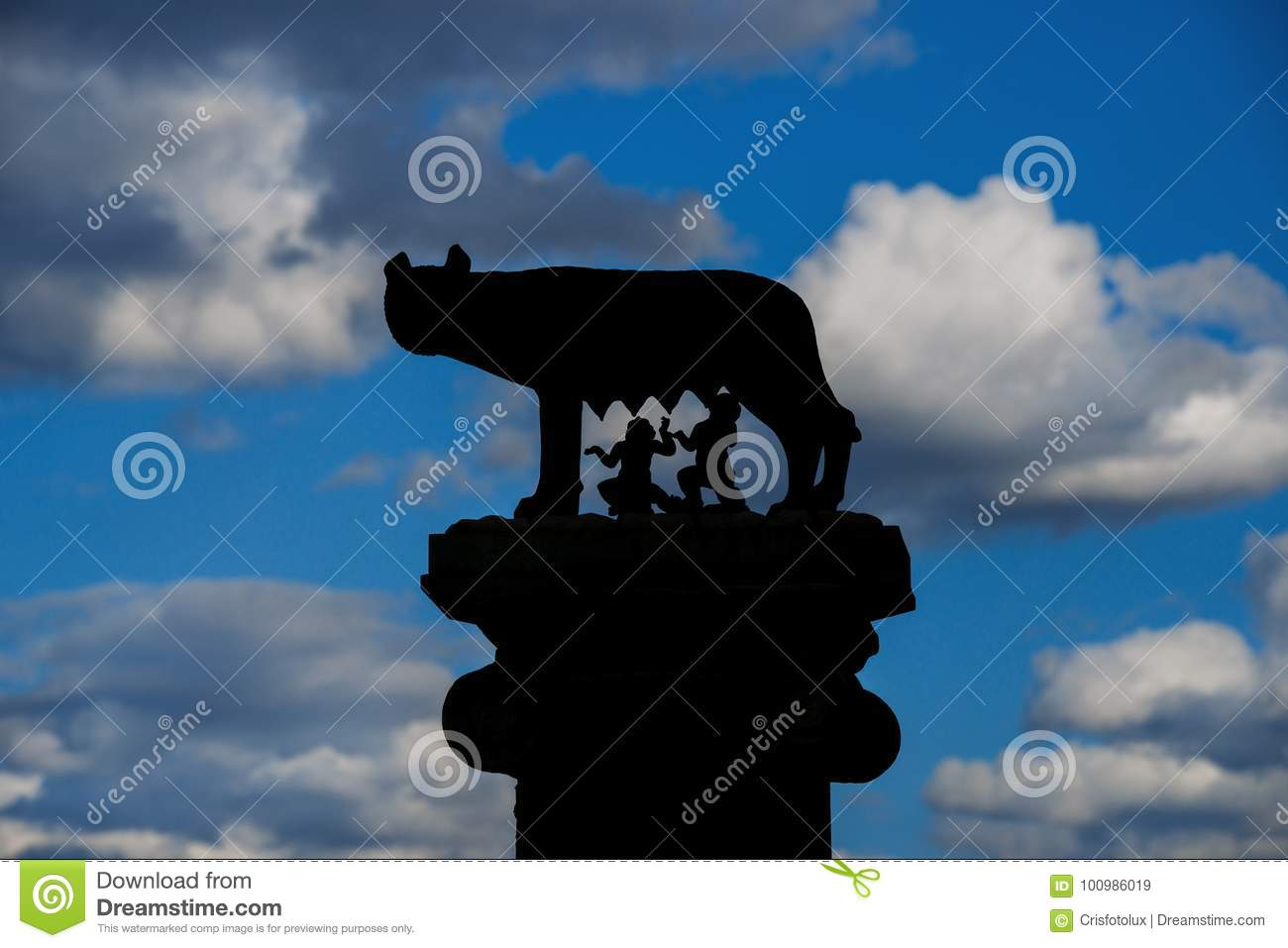 Capitoline Wolf Symbol Of Rome Stock Image Image Of Roman Column