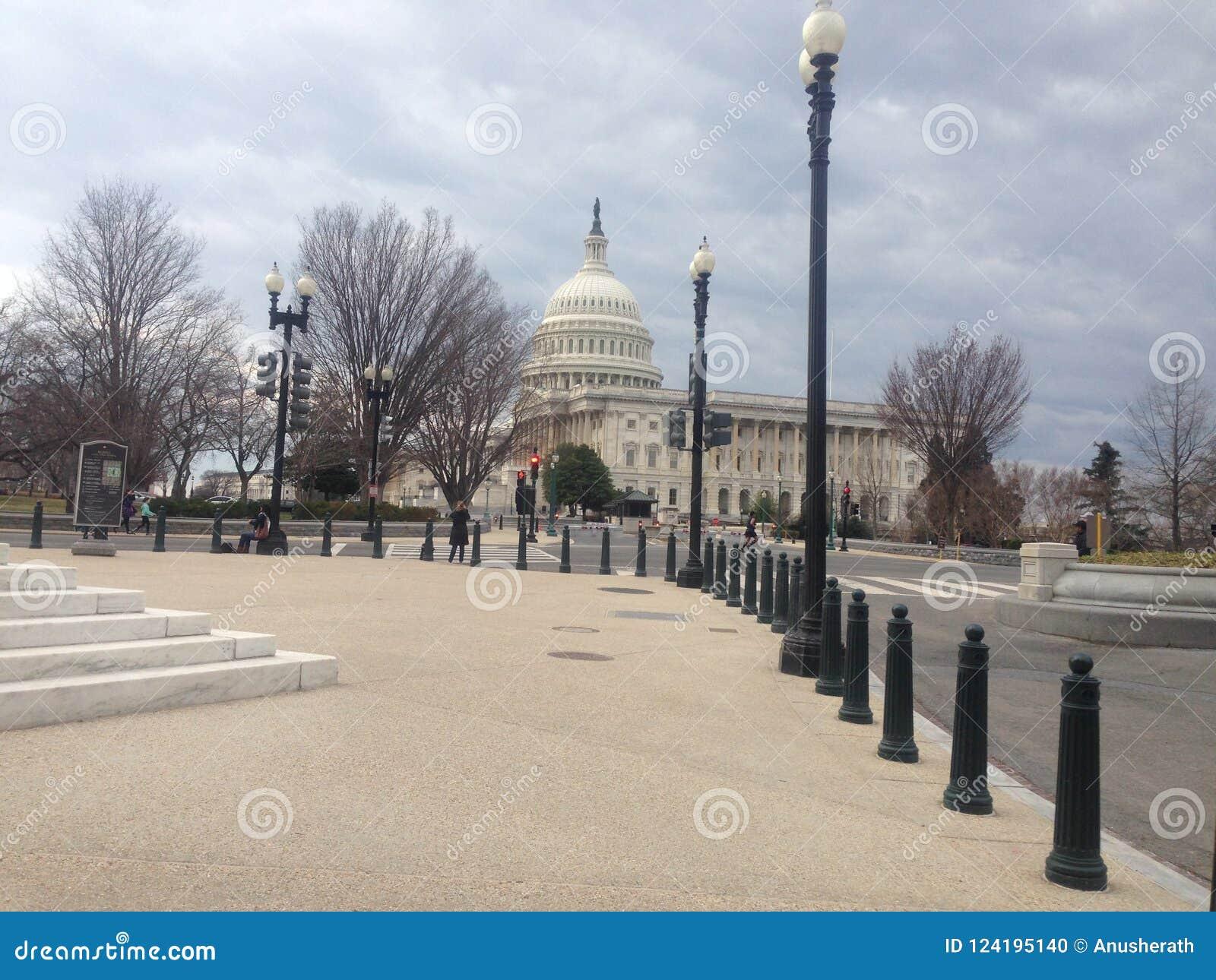 Capitolio de Estados Unidos sin ocupado