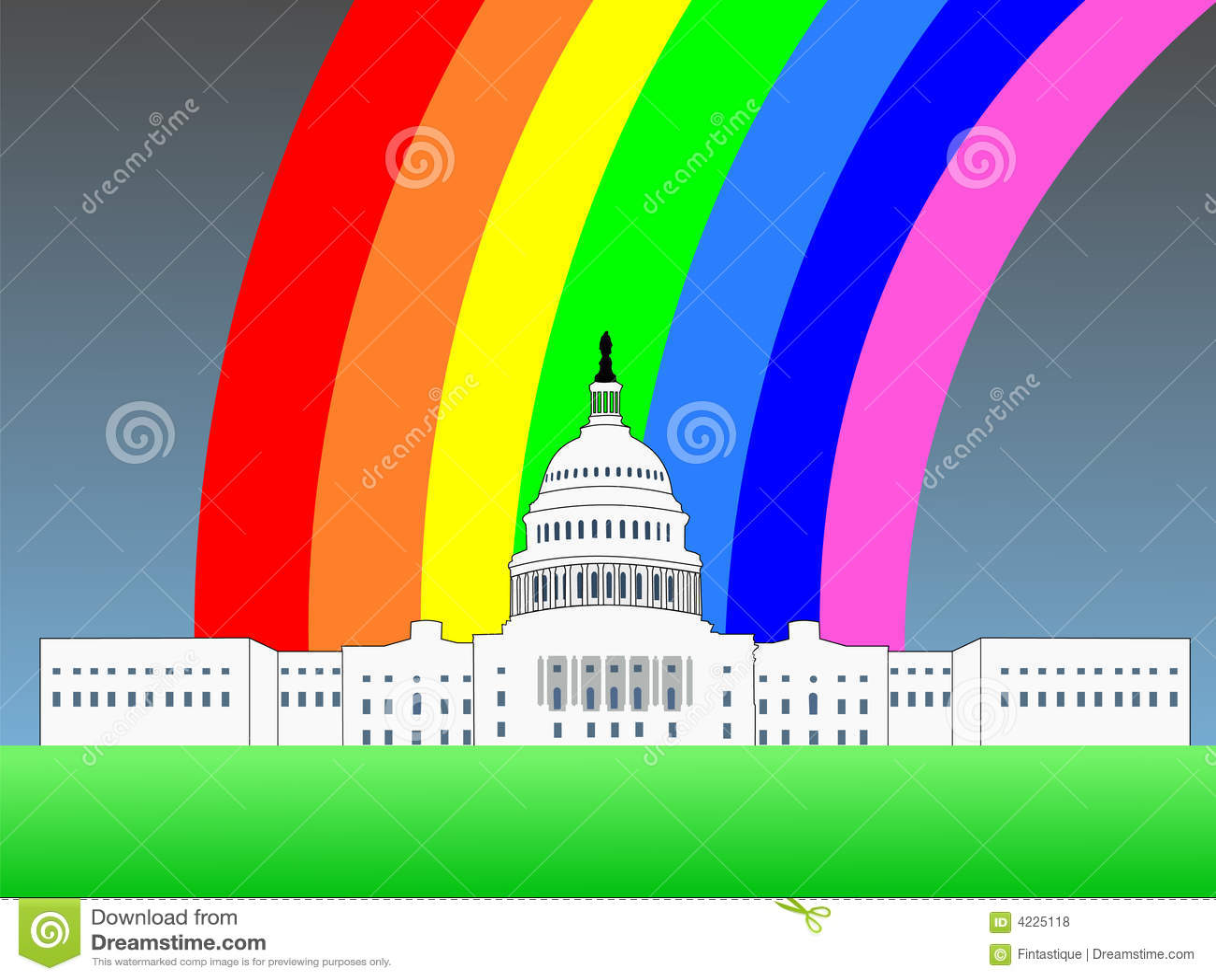 Capitolio de los E.E.U.U. con el arco iris