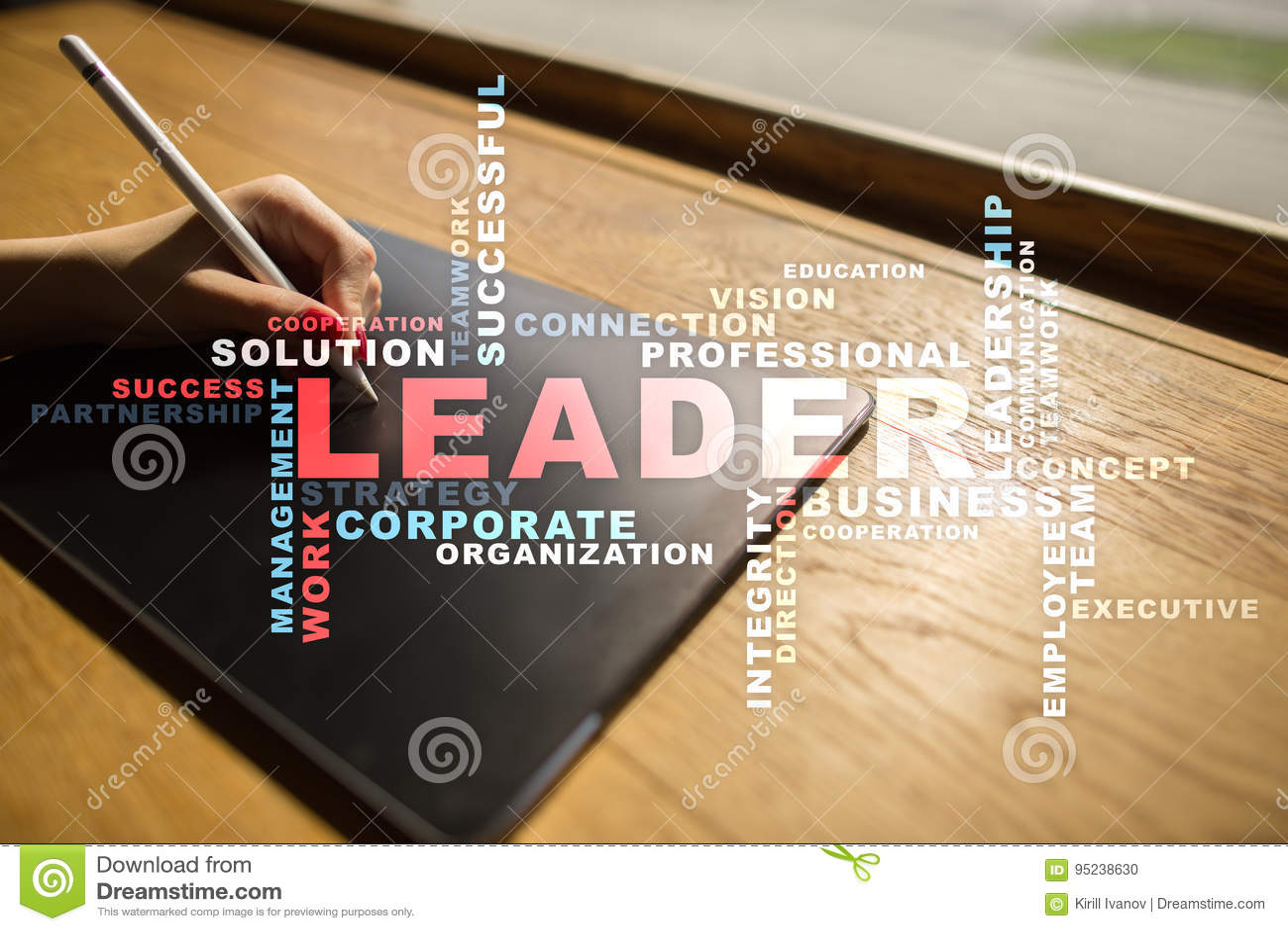 Capo Direzione Team-building Concetto di affari Nuvola di parole