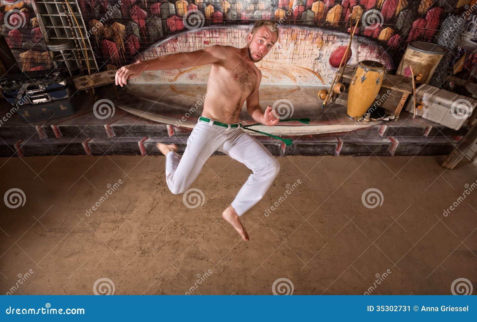 Capoeira Twisting Kick Stock Image - Image: 35302731