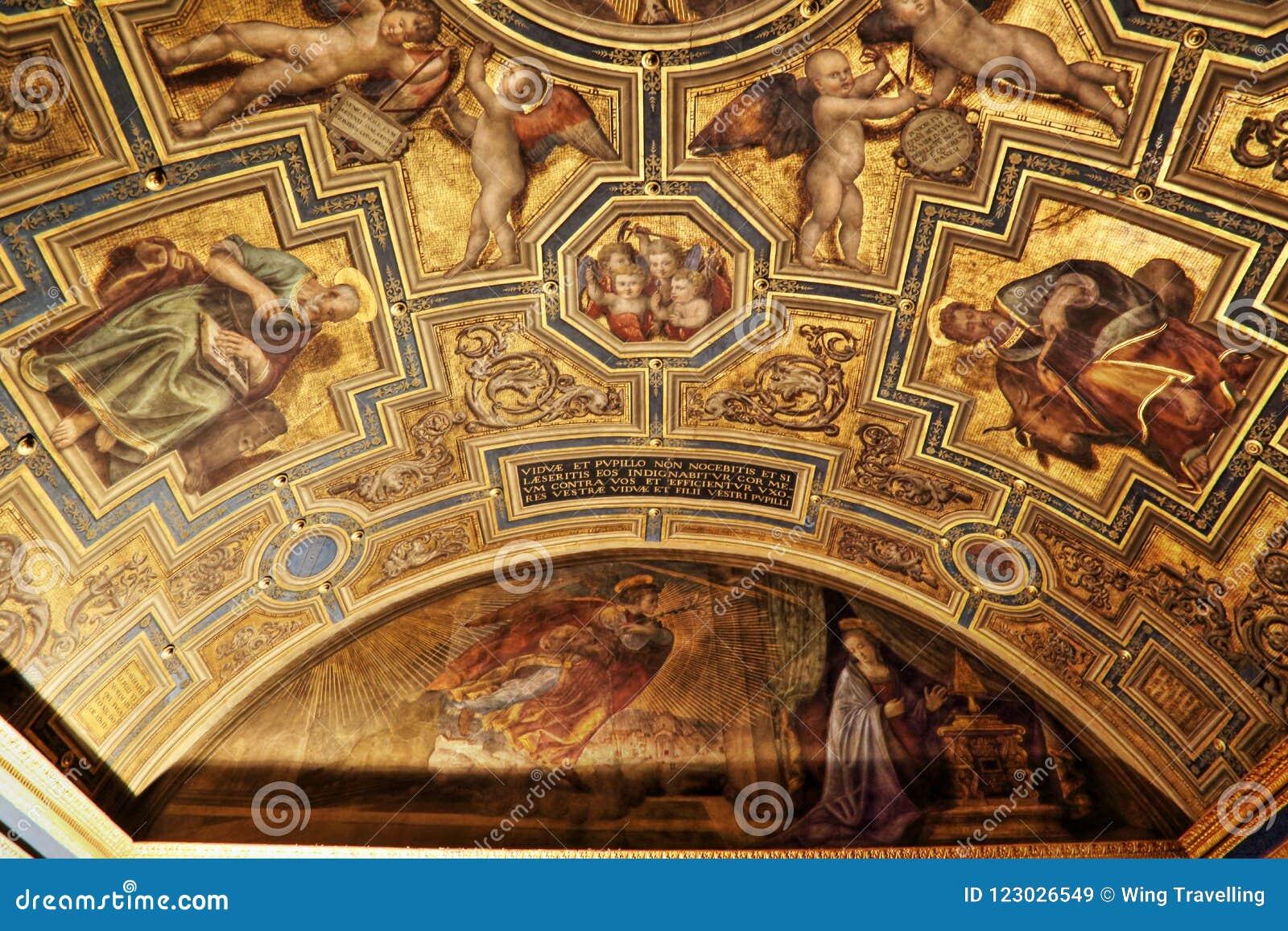 Capolavori nella galleria di Uffizi, Firenze, Italia