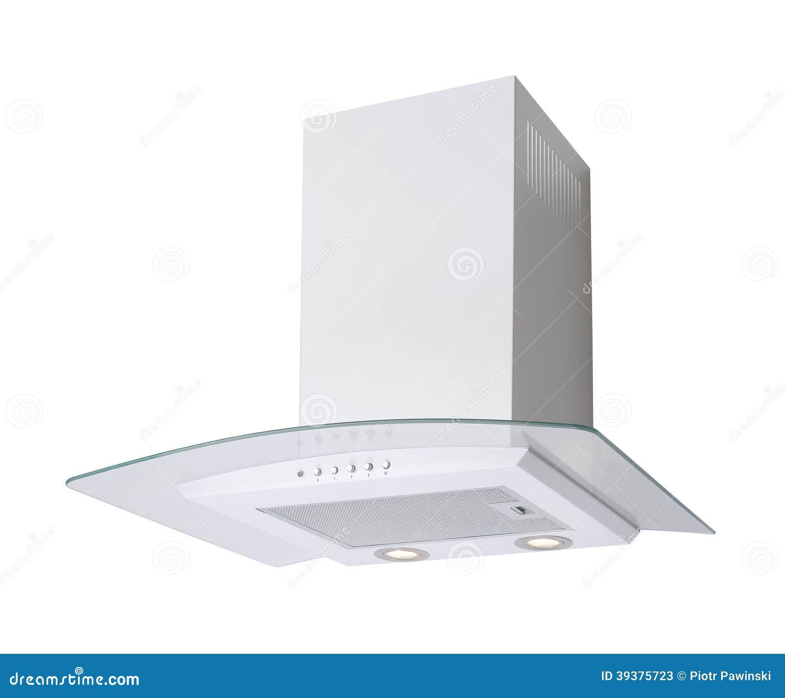Cappa da cucina bianca immagine stock. Immagine di particolare ...