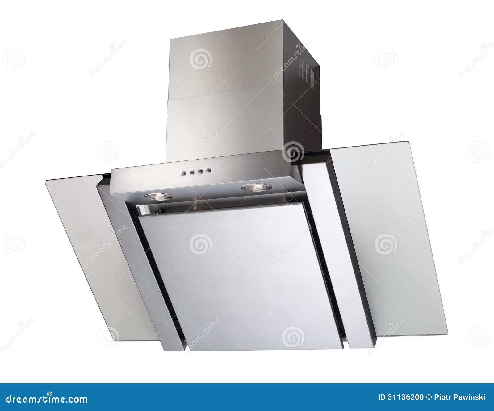 Cappa da cucina di INOX fotografia stock. Immagine di closeup ...