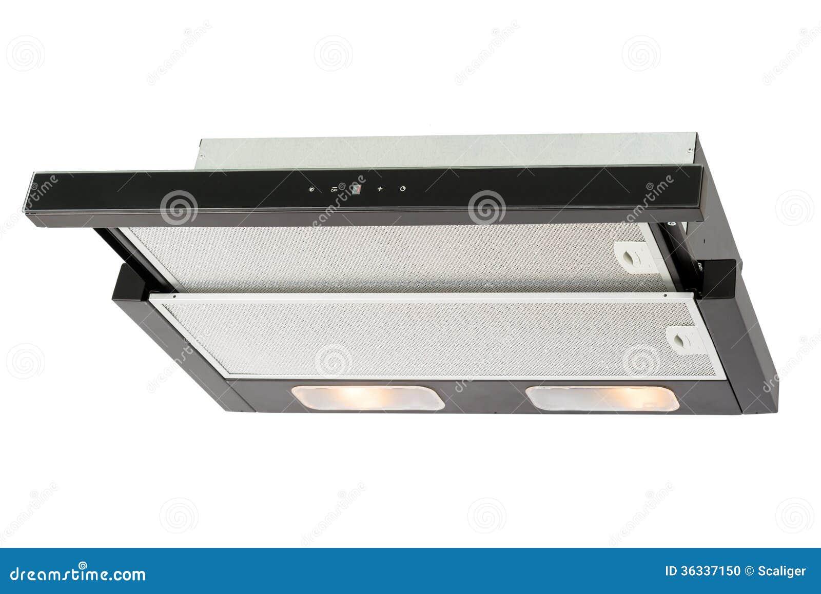 Cappa da cucina nera fotografia stock. immagine di forno 36337150