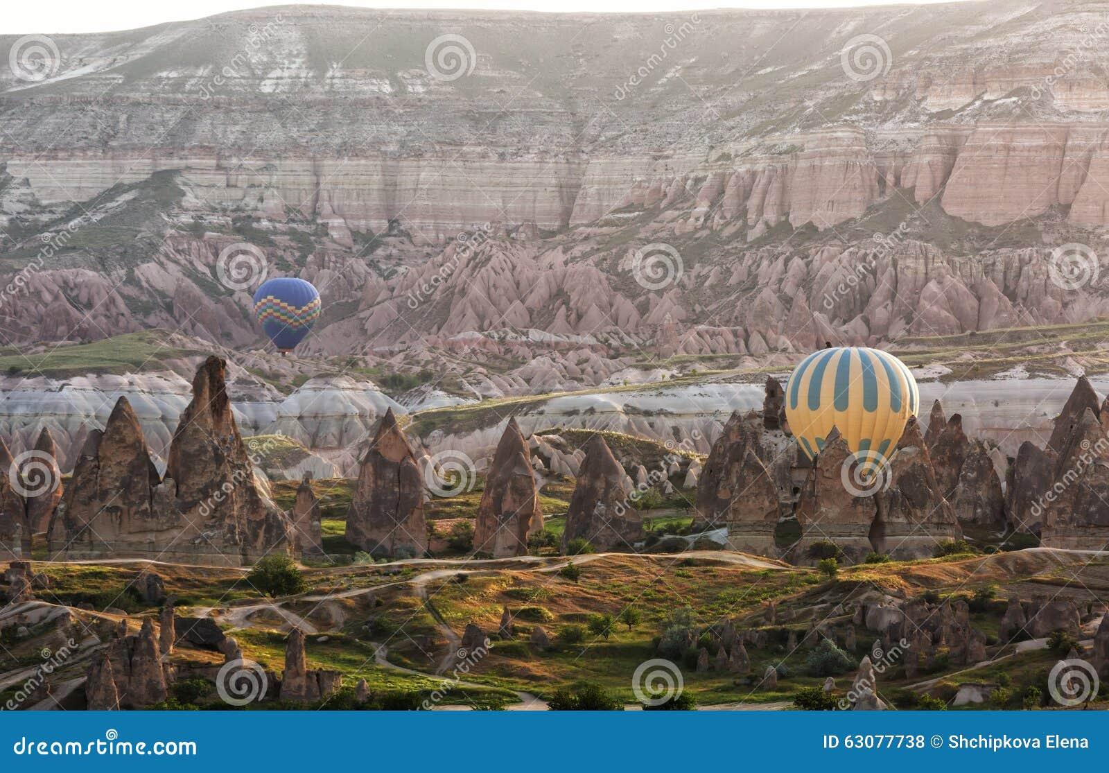 Download Cappadocia photo stock. Image du nature, expérience, multicolore - 63077738