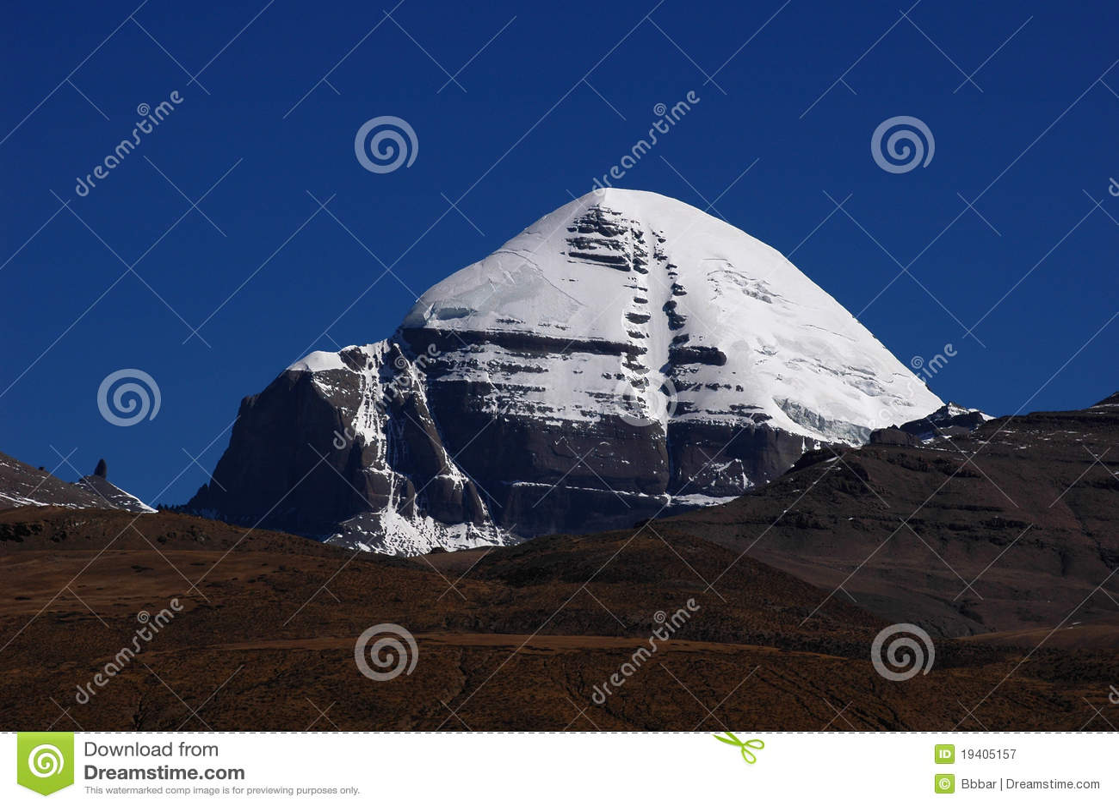 Capped bergsnow tibet