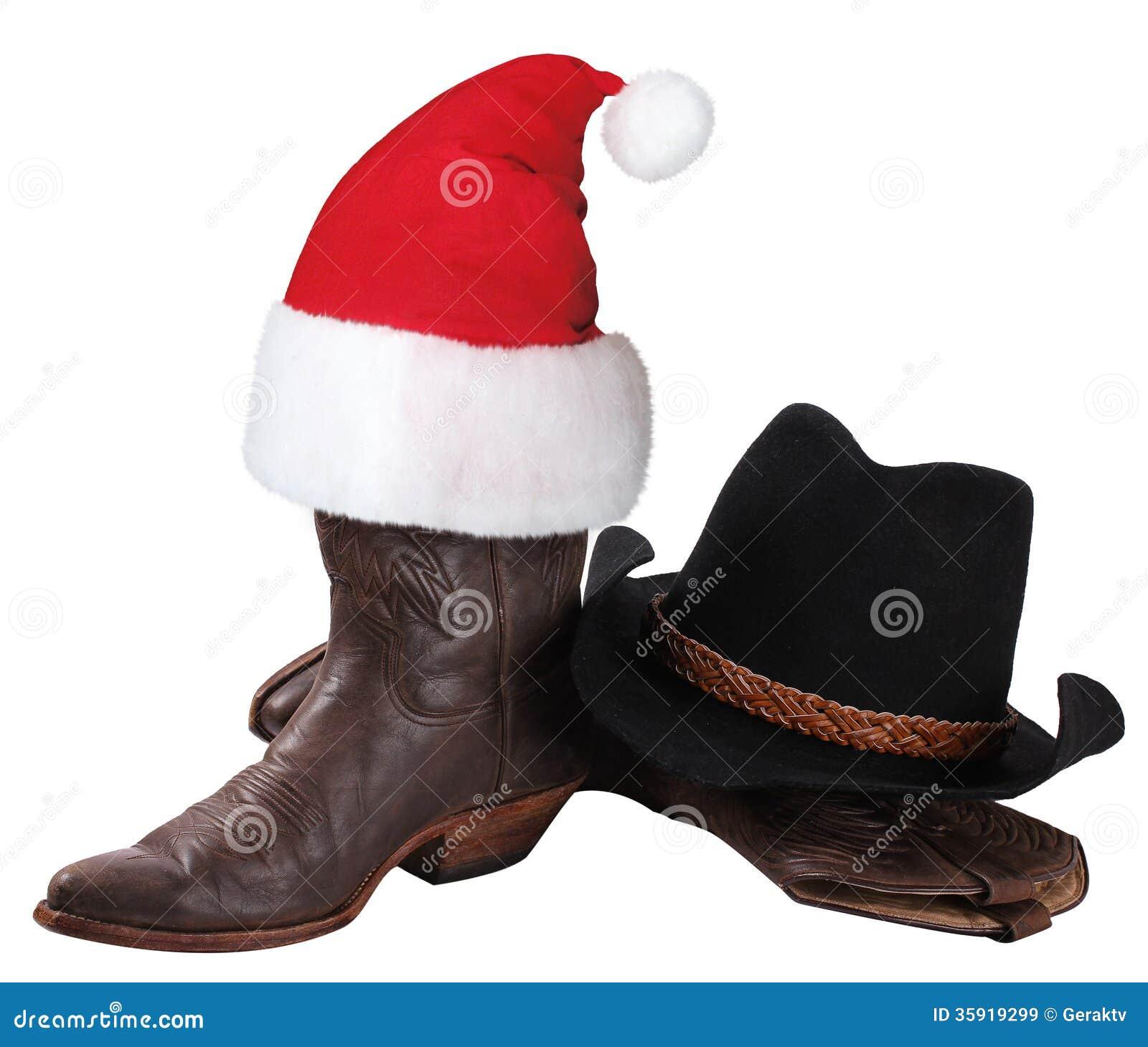 Cappello Da Cowboy Americano E Scarpe Occidentali Per La Festa Di