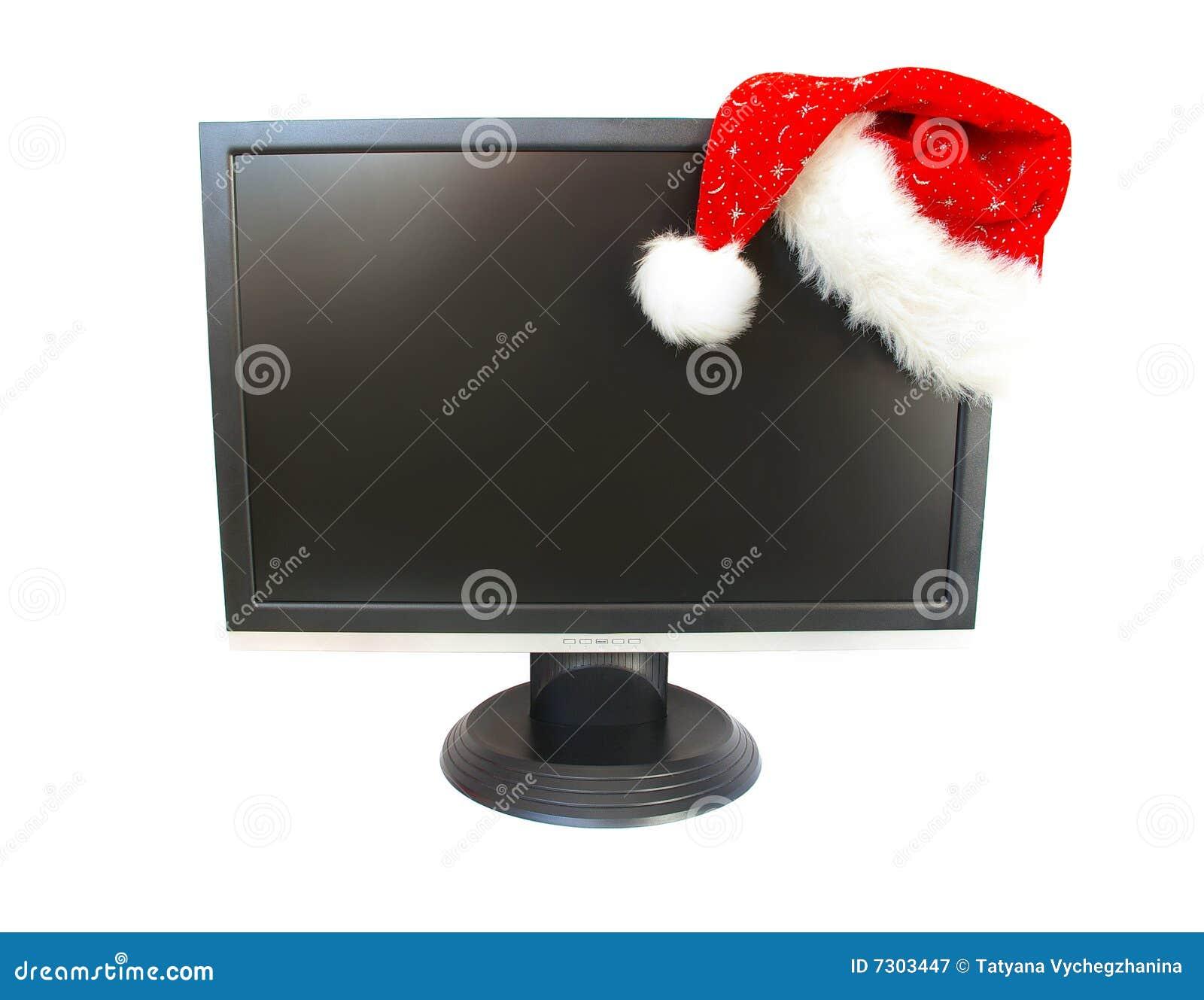 Cappello del Babbo Natale e del video