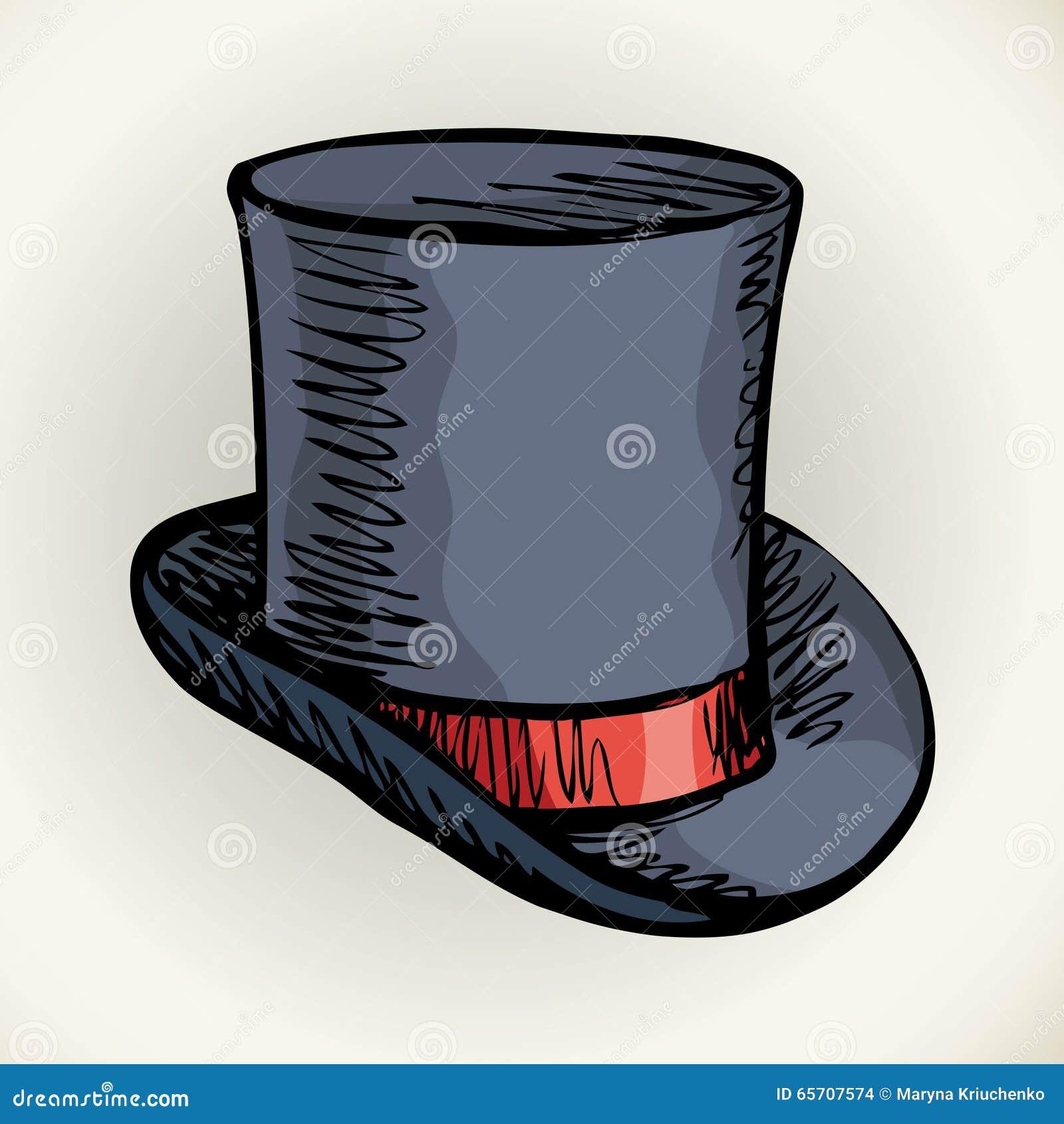Cappello Del Cilindro Illustrazione Di Vettore Illustrazione ... 9e51c3d7bc4d