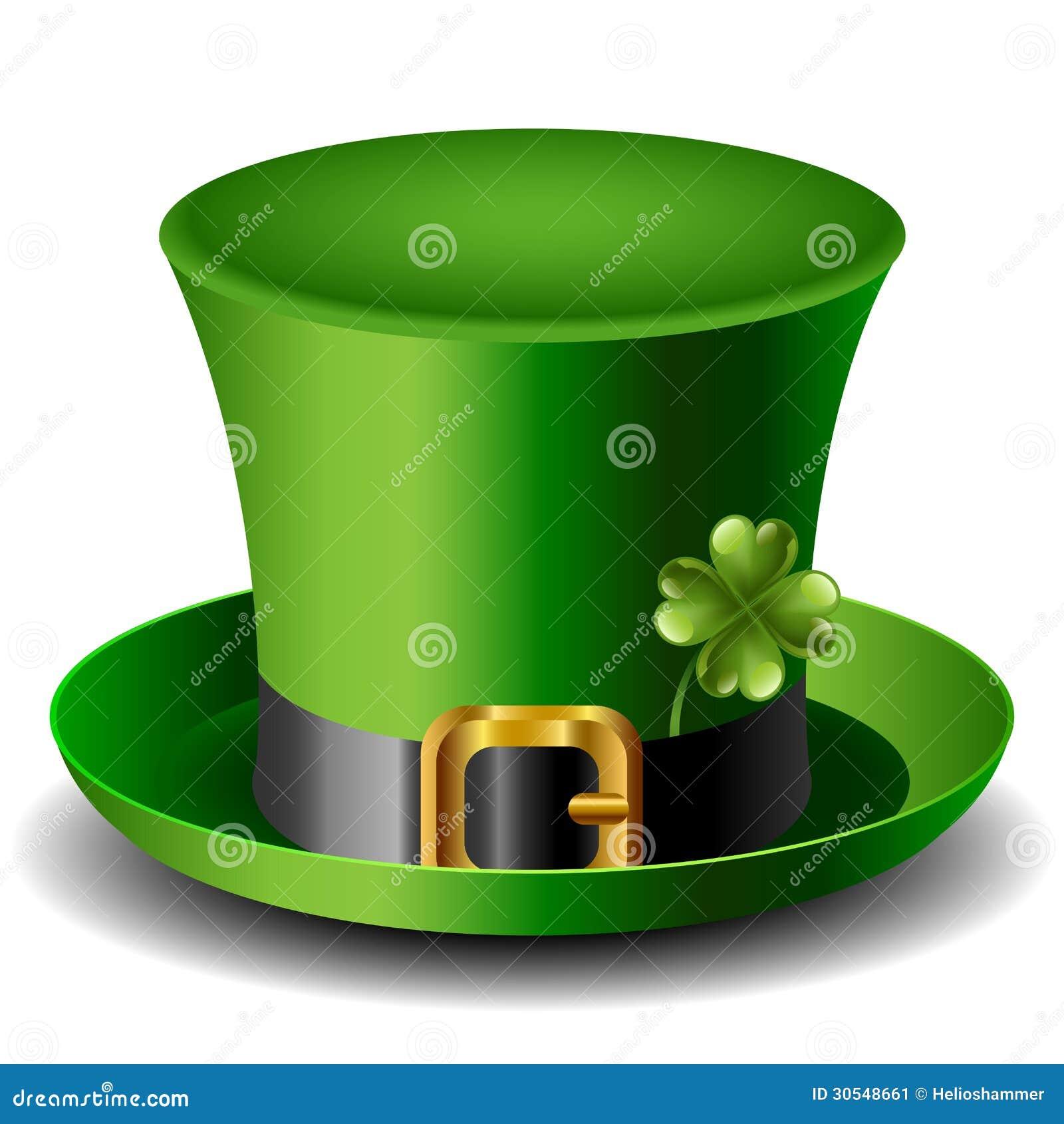 Cappello del giorno di st patrick con il trifoglio - St patricks giorno fogli di colore giorno ...