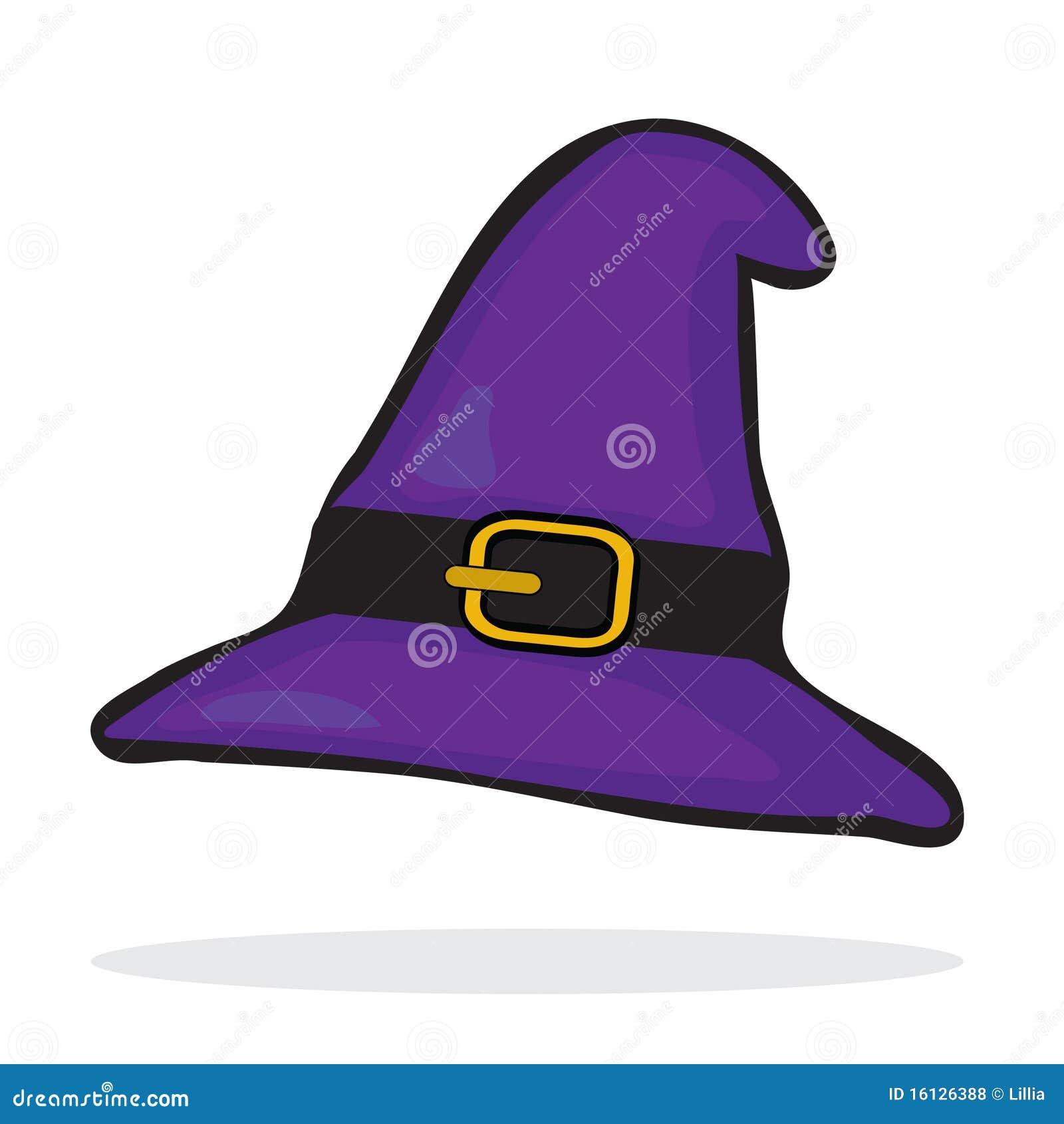 Cappello della strega viola. Icona di Halloween. Illustrazione di vettore 5c115a70f998