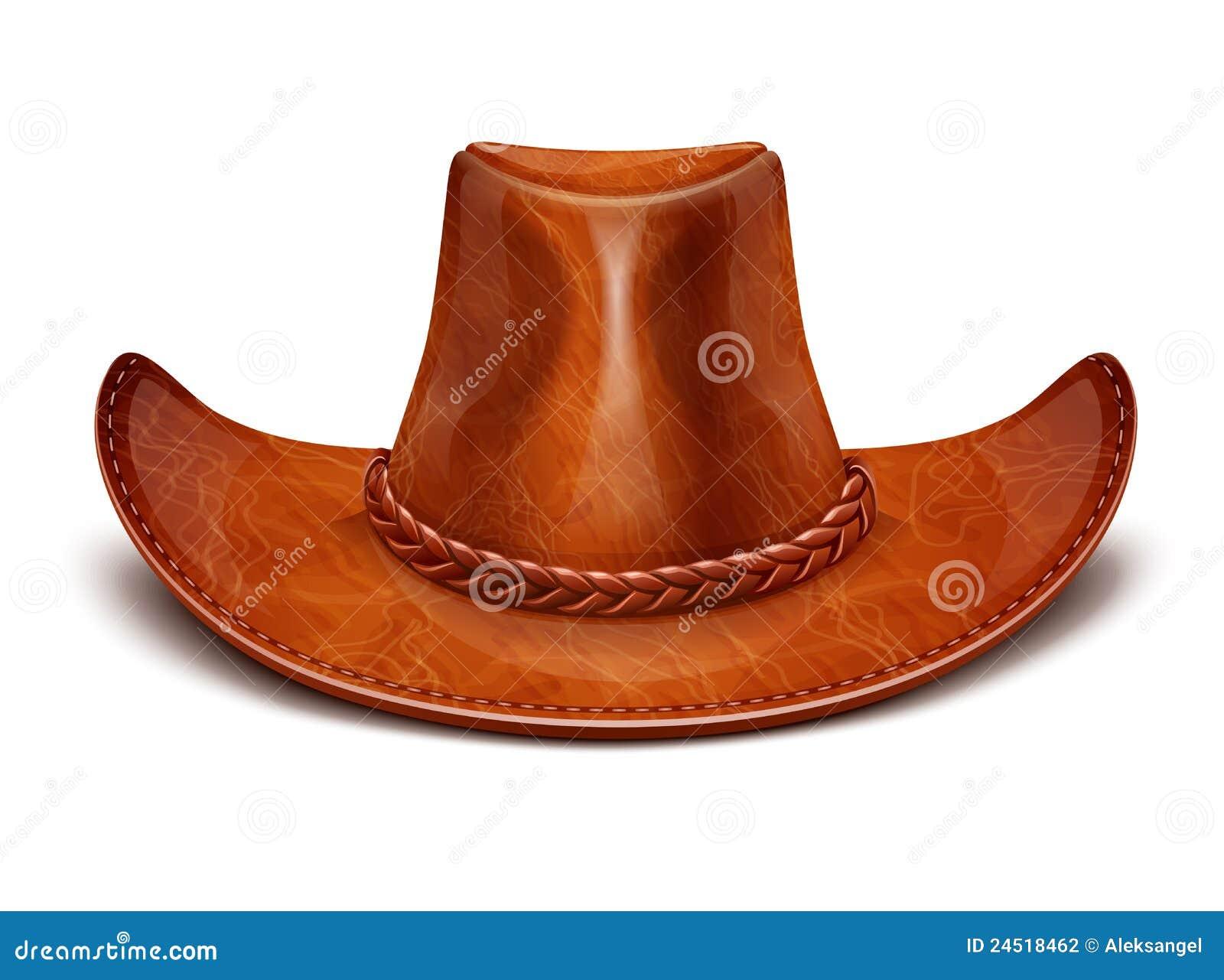 Cappello di cuoio stetson del cowboy fotografia stock for Oggetti in cuoio