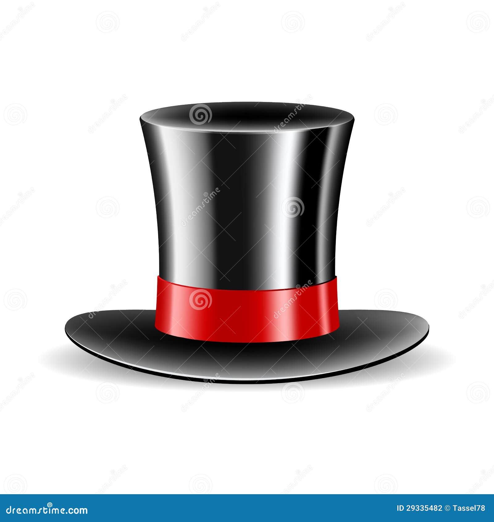 Cappello magico del cilindro isolato su fondo bianco. Illustrazione di  vettore 9b1b517748f7