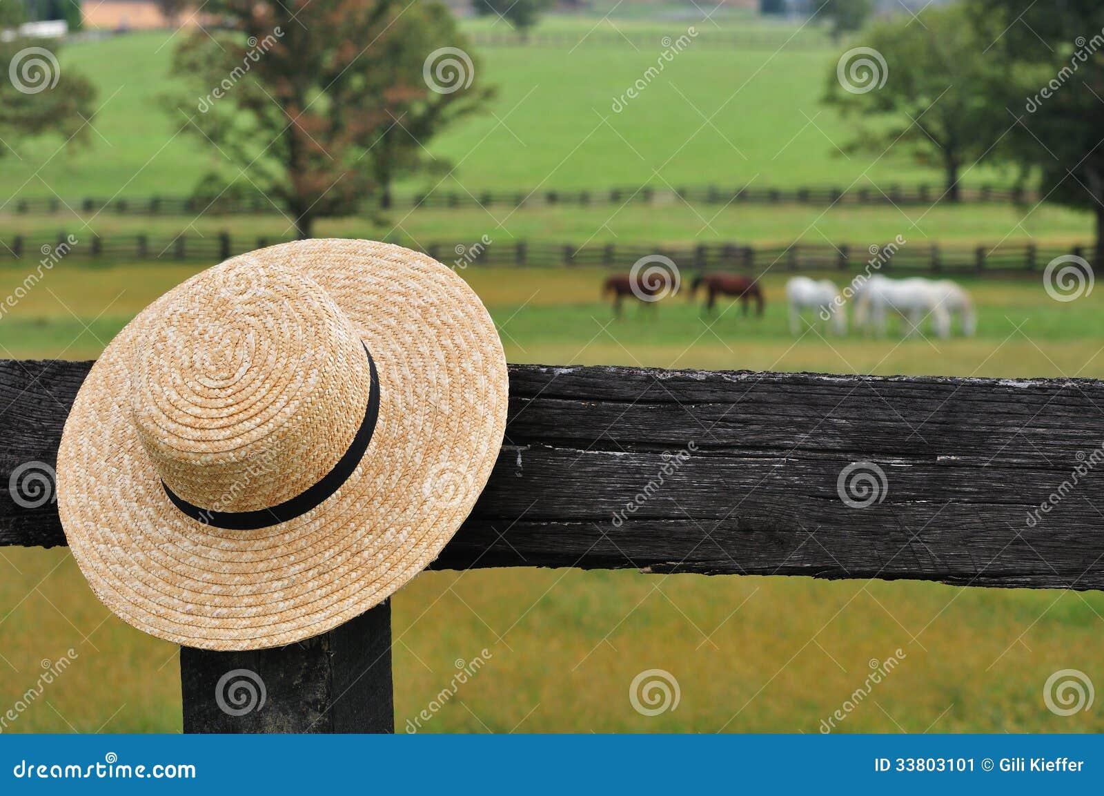 Cappello di paglia di Amish
