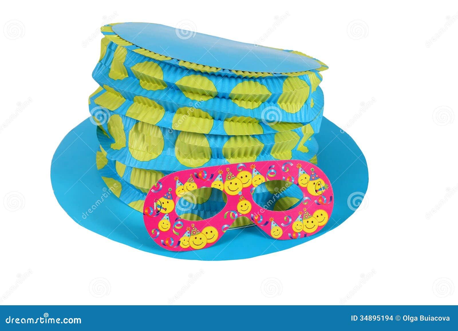 Cappello E Maschera Blu Per Il Carnevale Fotografia Stock - Immagine ... 55d18521349a