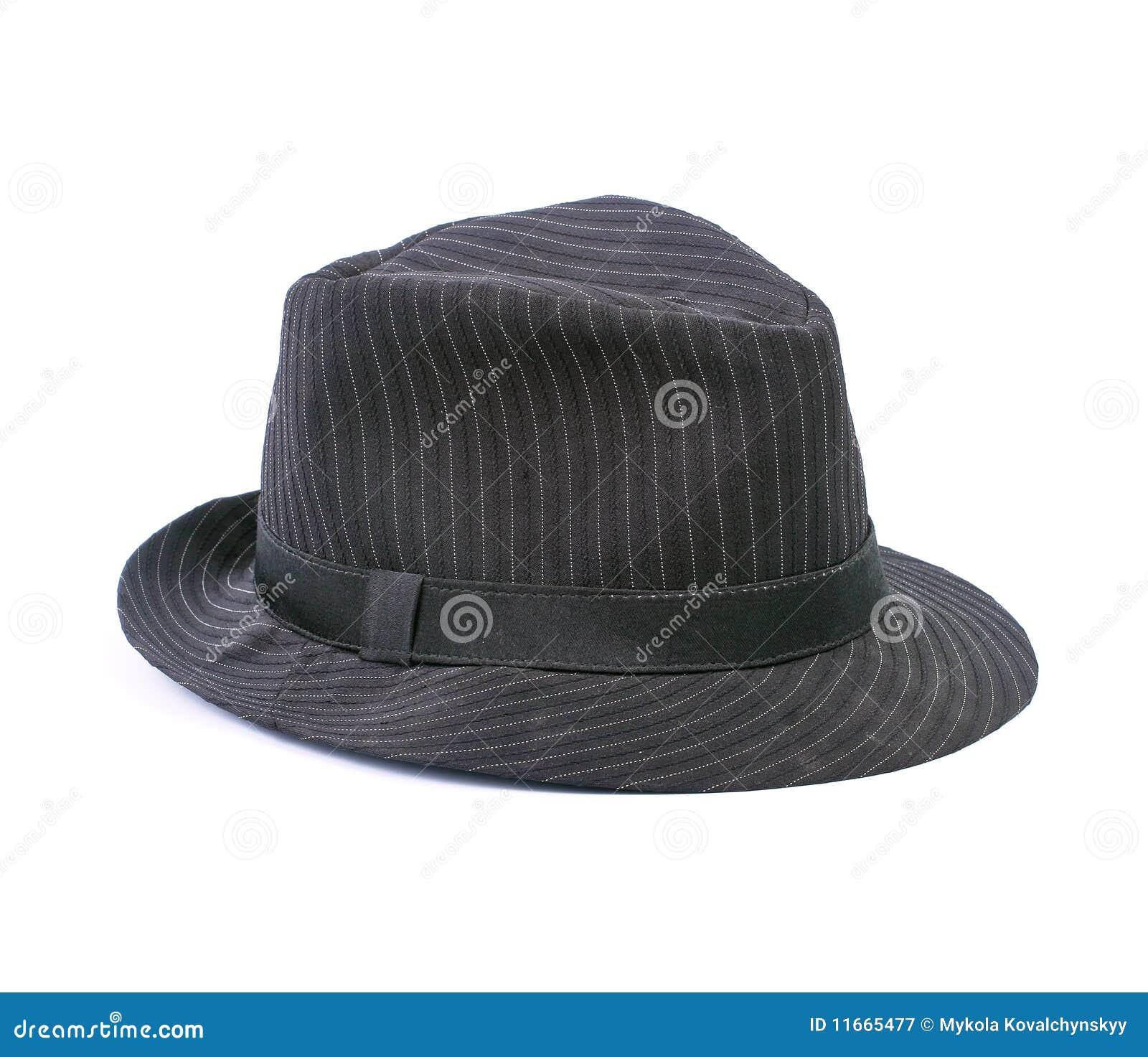 Cappello Nero Isolato Su Bianco Immagine Stock - Immagine ...