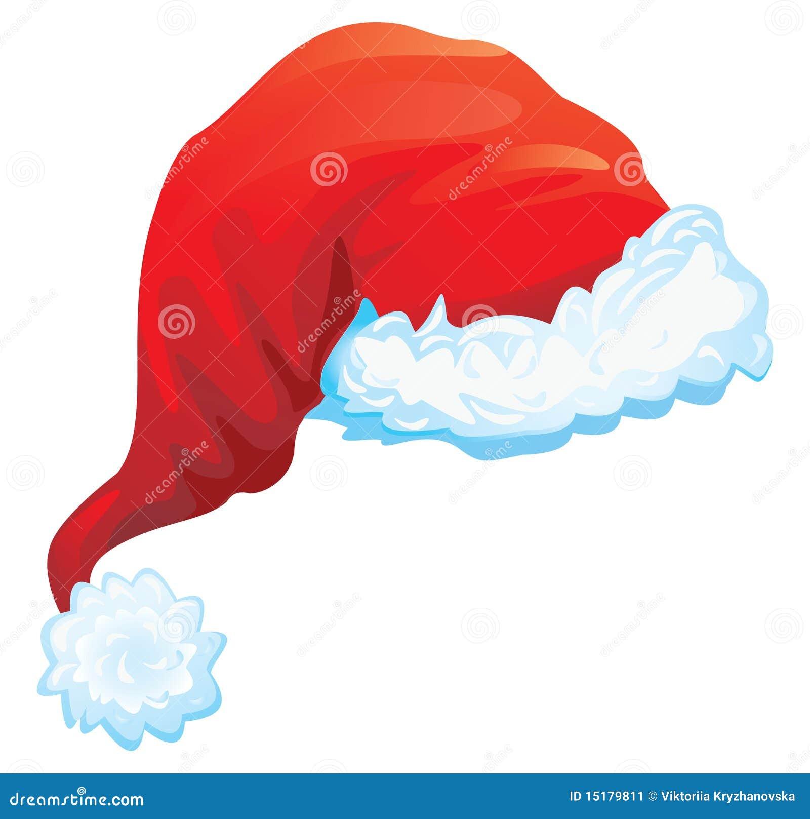 Cappello Rosso Del Babbo Natale Illustrazione Vettoriale