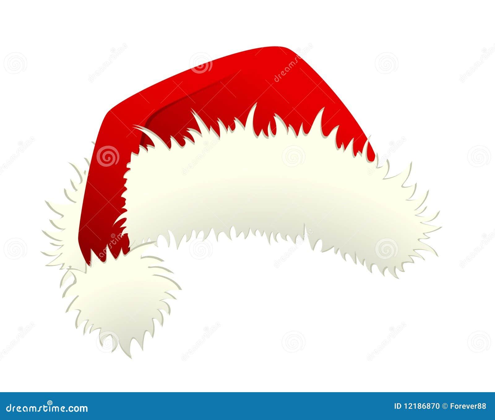Cappello Rosso Del Babbo Natale Isolato Illustrazione Vettoriale