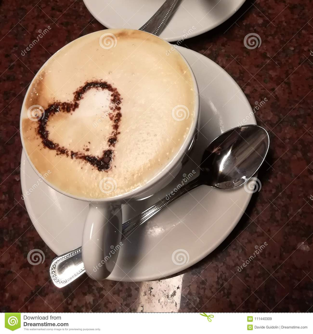 Cappuccino With Heart Shape Decoration Stock Image - Image ...