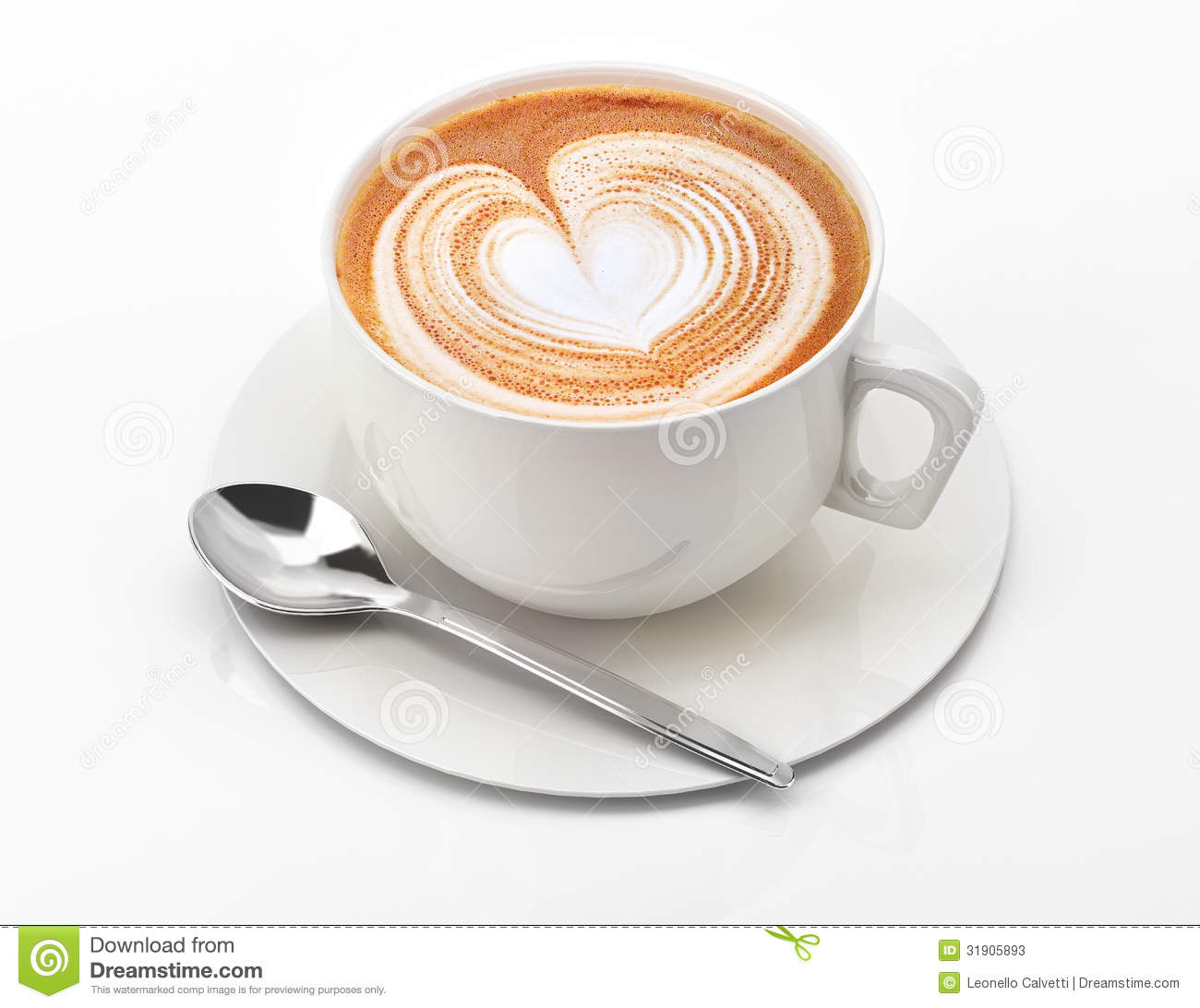 Cappuccino mug close up with a heart decorated on top of foam stock illustration image 31905893 - Bilder cappuccino ...