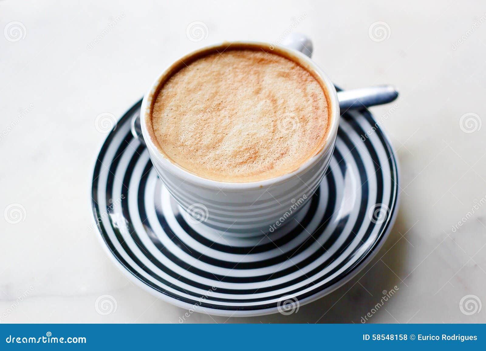 English In Italian: Type Of Coffee Preparation Stock Photo