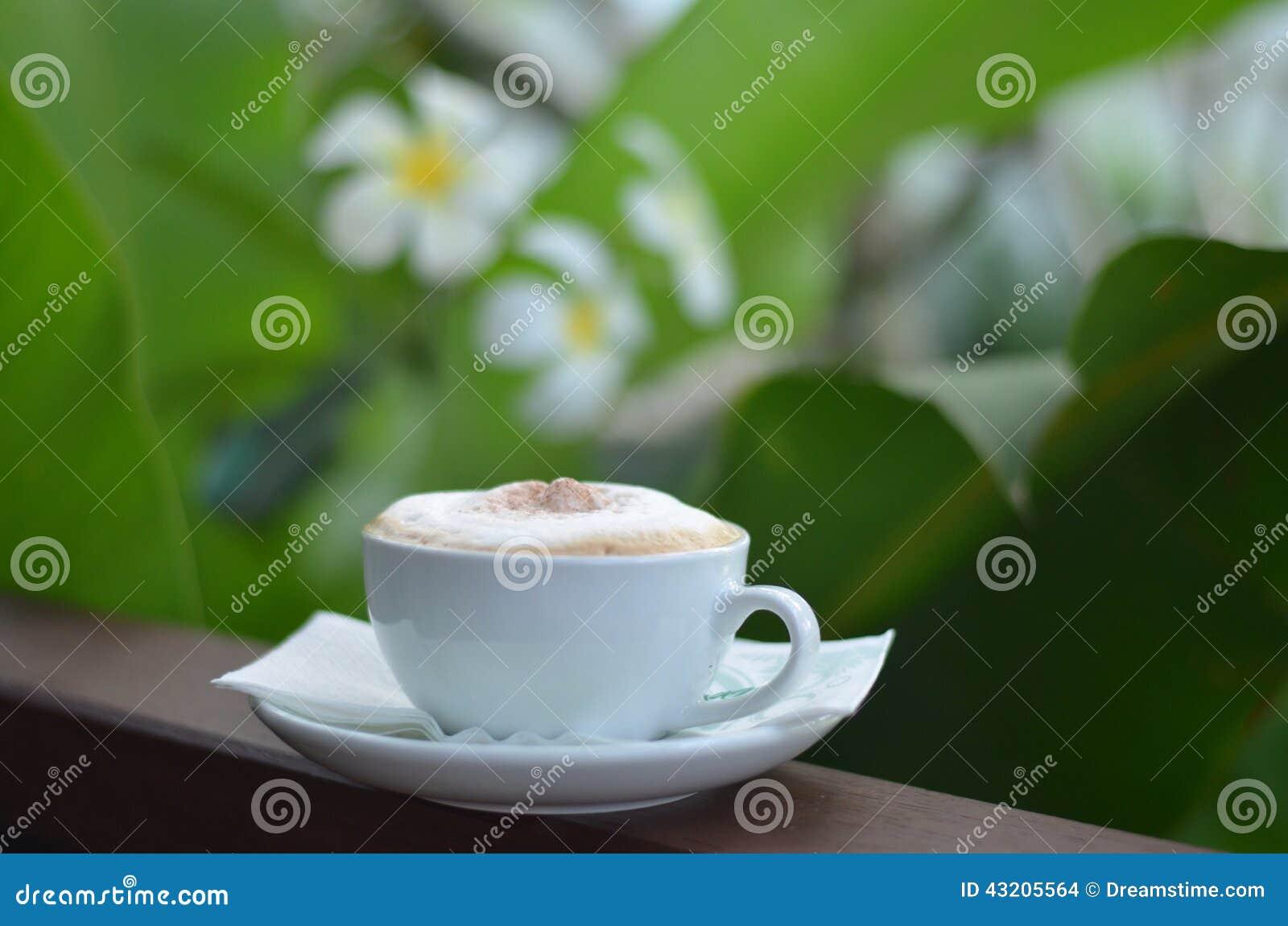 Download Cappuccinokaffe arkivfoto. Bild av thailand, kräm, kaffe - 43205564