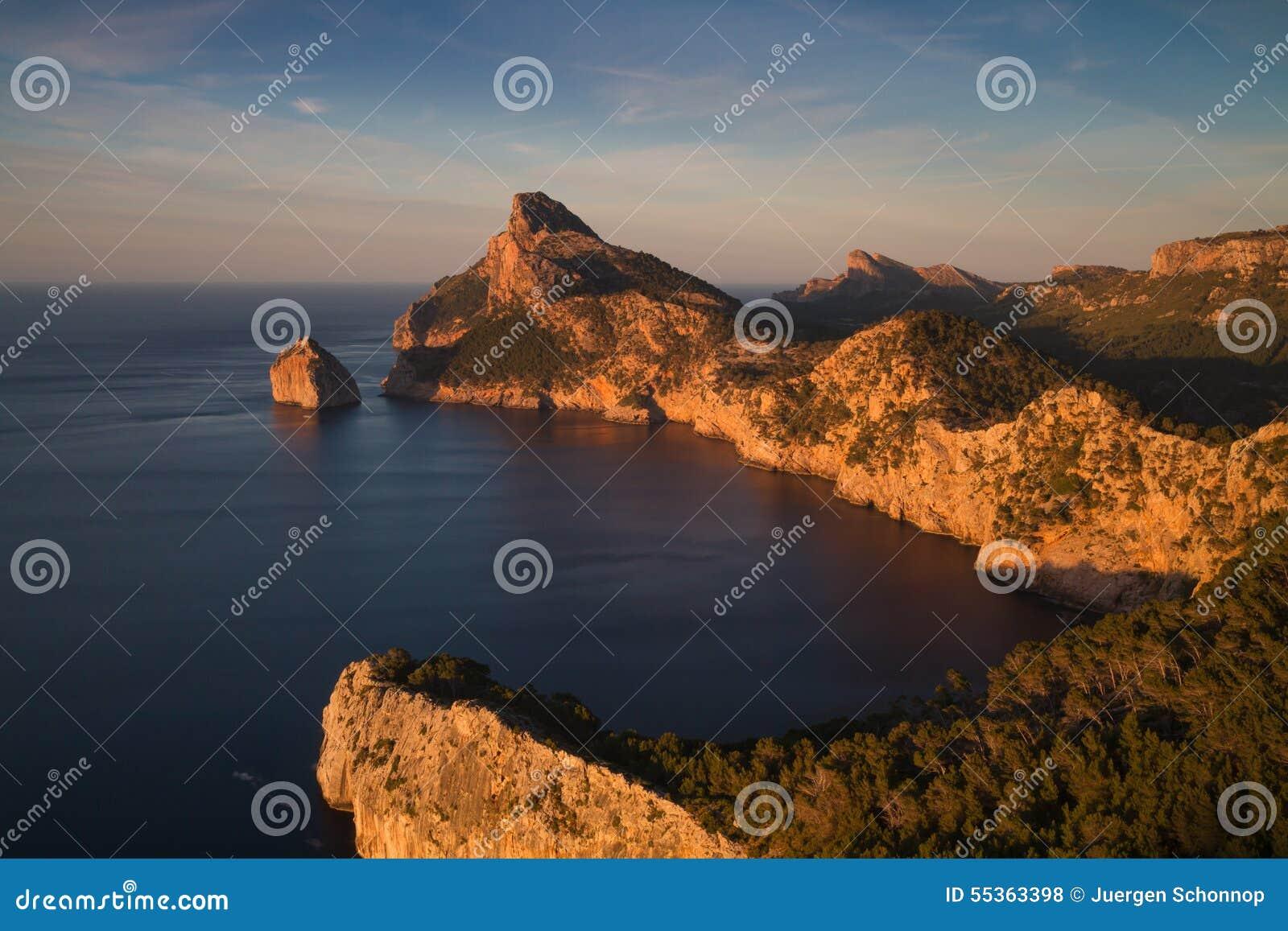 Cappuccio Formentor verso la fine del sole di pomeriggio