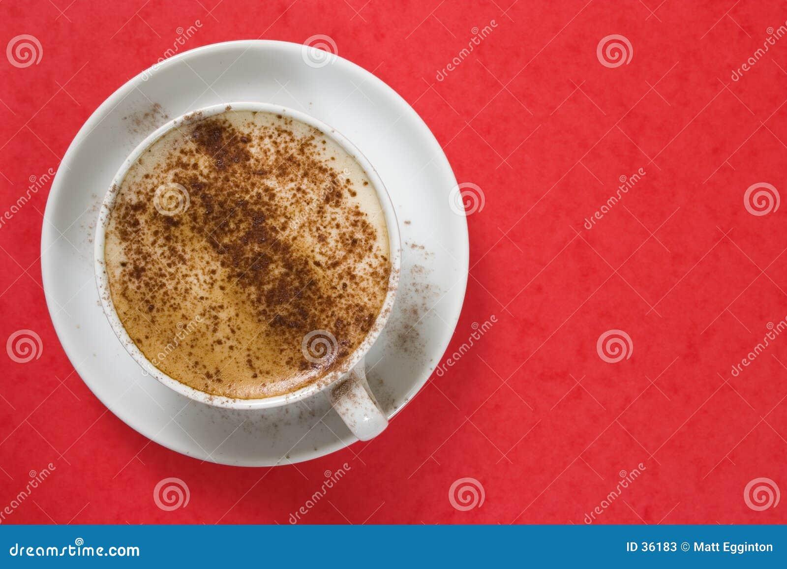 Download Cappuchno en rojo imagen de archivo. Imagen de azúcar, café - 36183