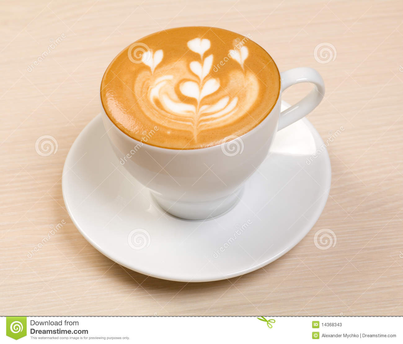 Cappucino.Cup of coffee