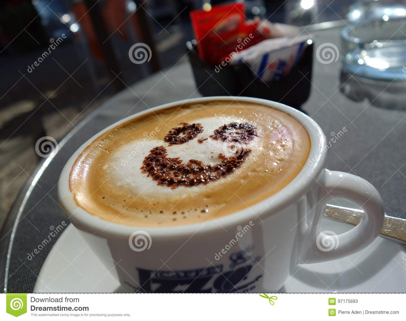 Cappucino with smile