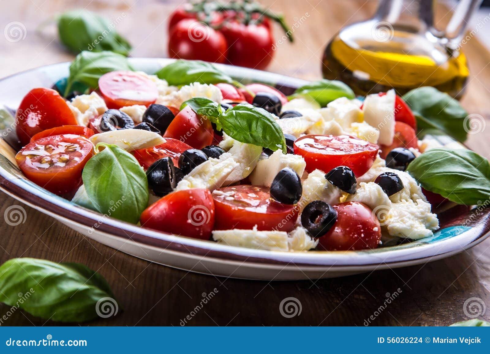 Caprese Caprese Salat Italienischer Salat Griechischer Salat ...