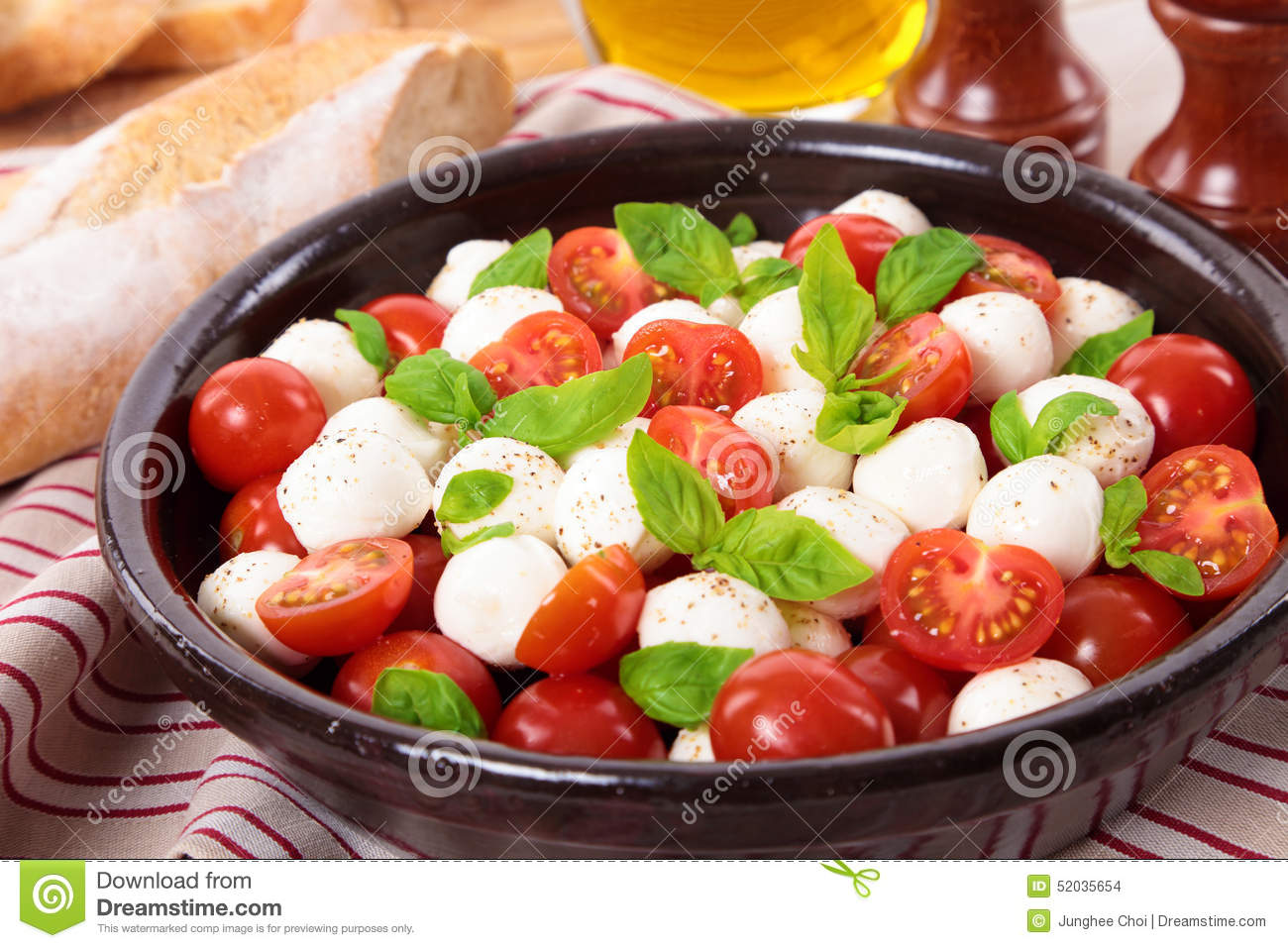 And Tomato Salad Cherry Tomatoes Cherry Tomato Mozzarella Basil