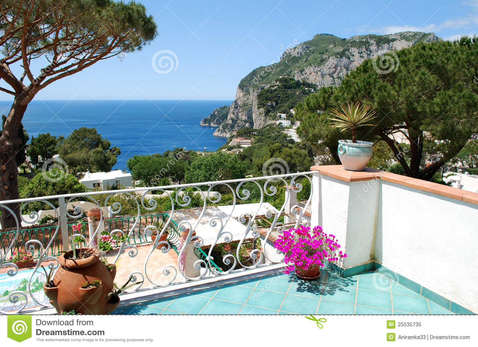 """capri, balcony view"" стоковая фотография и роялти-фри изобр."