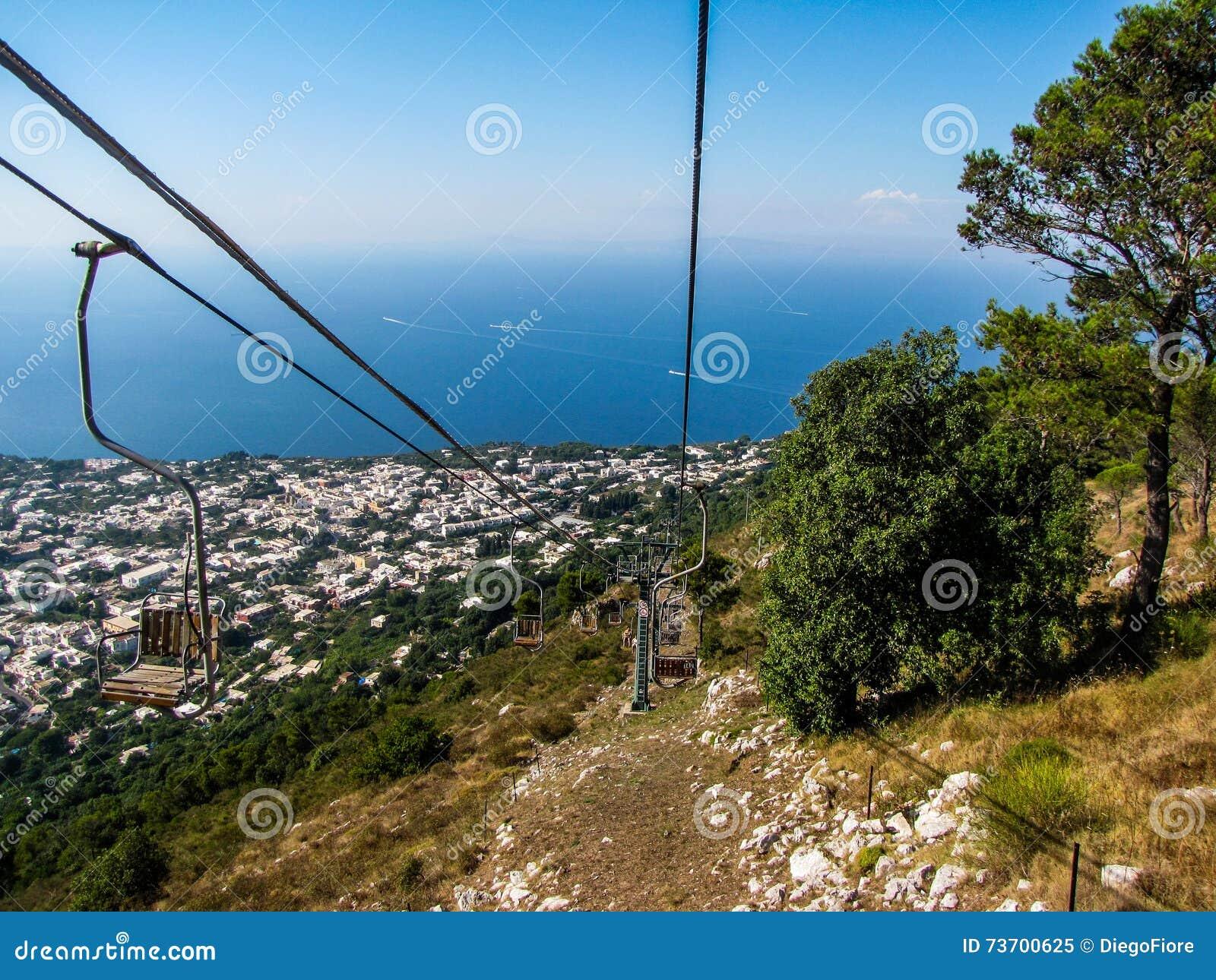 Capri Chairlift, Monte Solaro