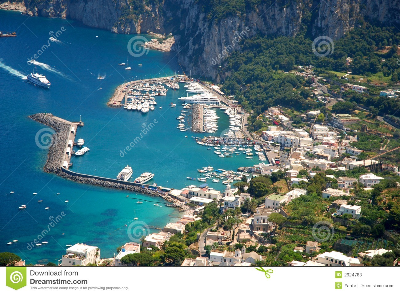 Capri Island Stock Image Image Of Italian House Blue