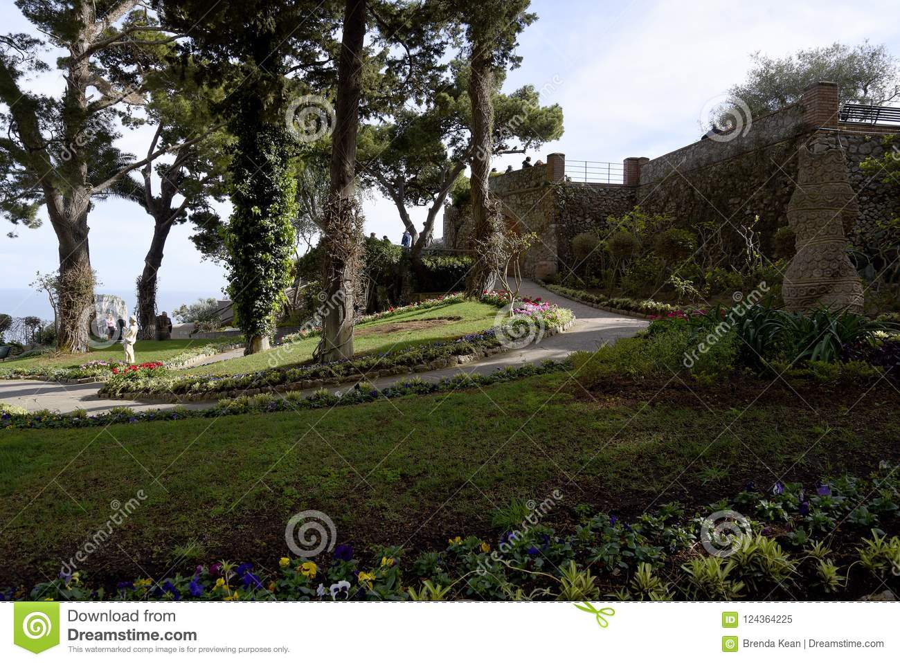 The Gardens Of Augustus On The Isle Of Capri In The Bay Of Naples ...